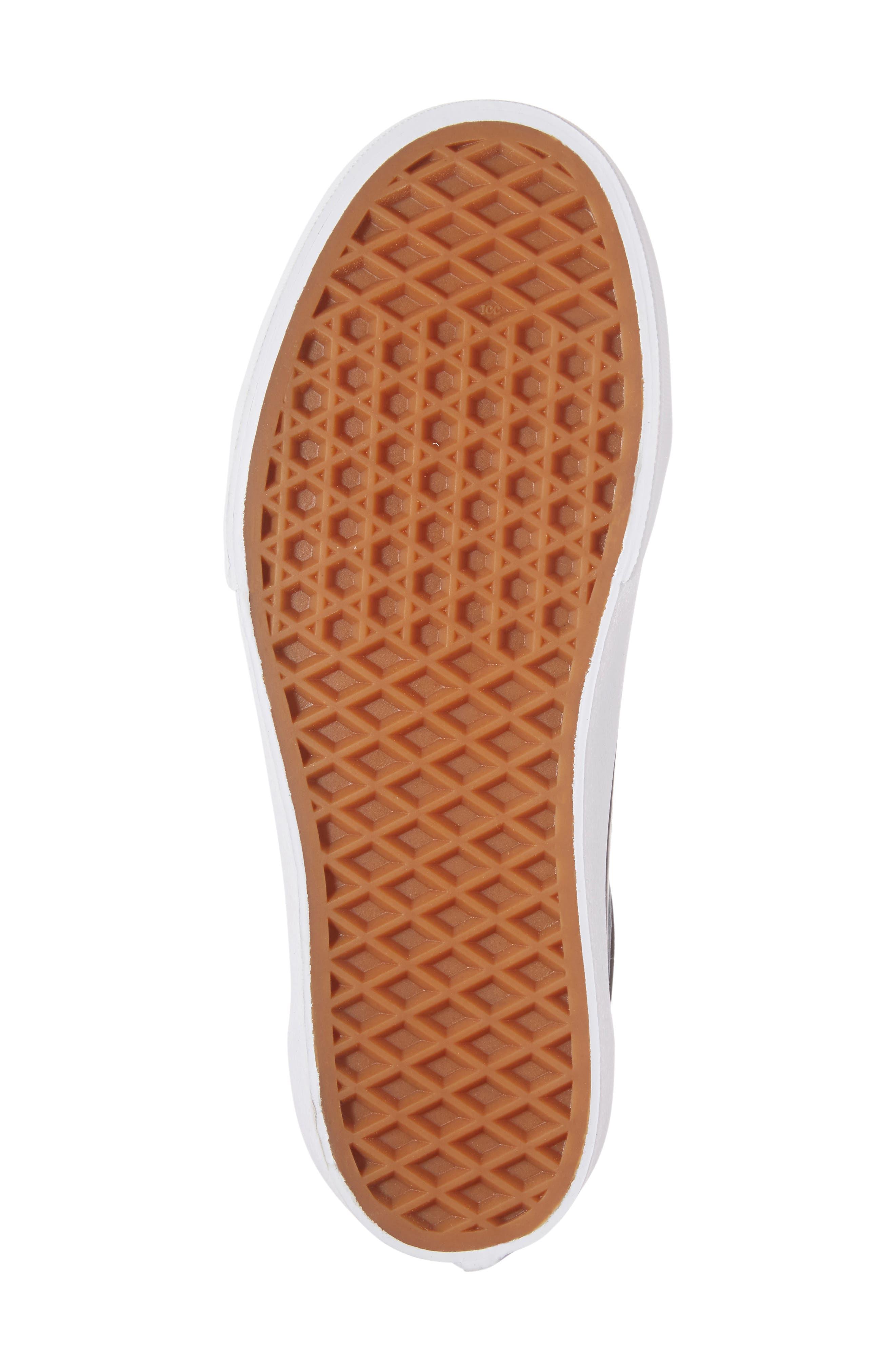 VANS, Old Skool Platform Sneaker, Alternate thumbnail 6, color, BLACK/ WHITE