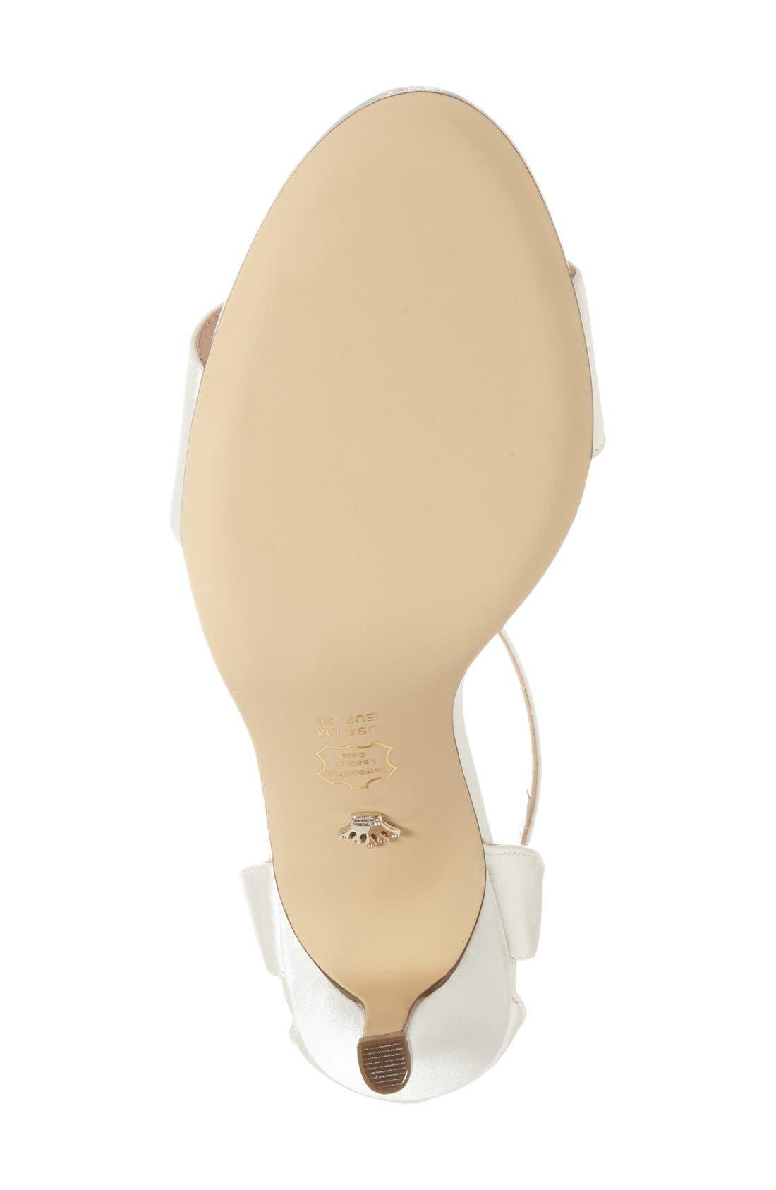 NINA, 'Venetia' Ankle Strap Sandal, Alternate thumbnail 4, color, IVORY
