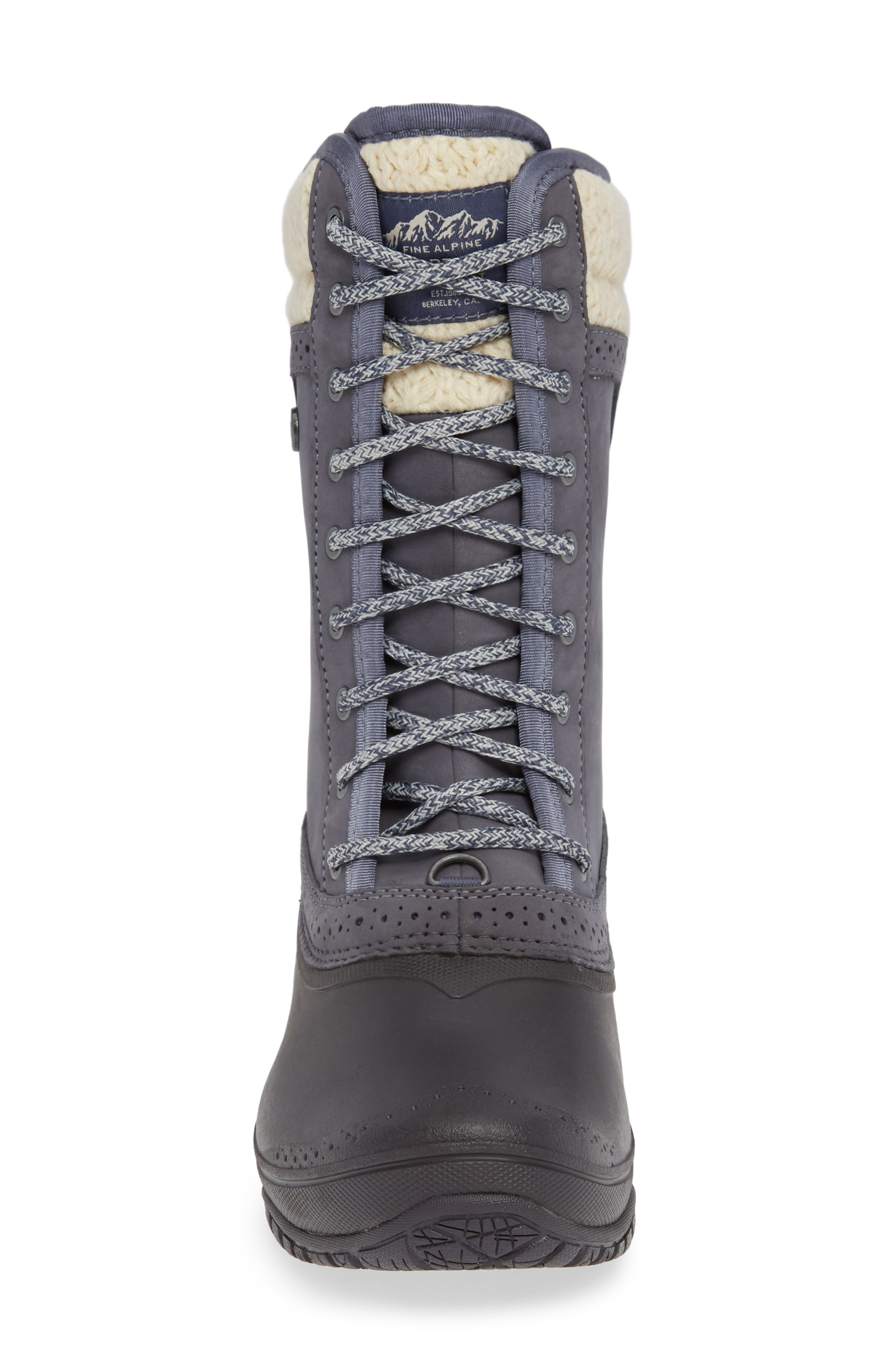 THE NORTH FACE, Shellista Waterproof Insulated Snow Boot, Alternate thumbnail 4, color, GRISAILLE GREY/ VINTAGE WHITE
