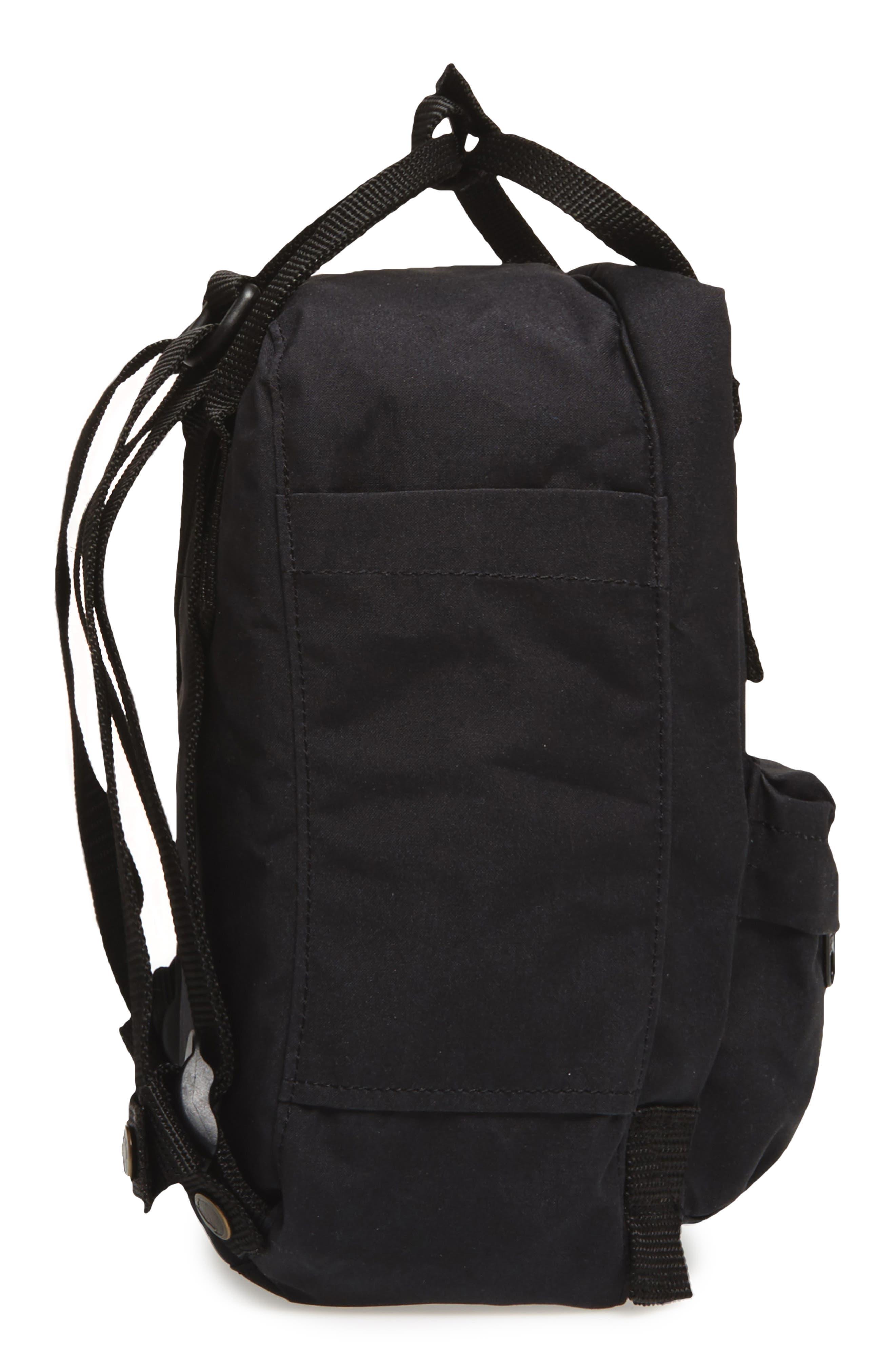 FJÄLLRÄVEN, 'Mini Kånken' Water Resistant Backpack, Alternate thumbnail 6, color, 001