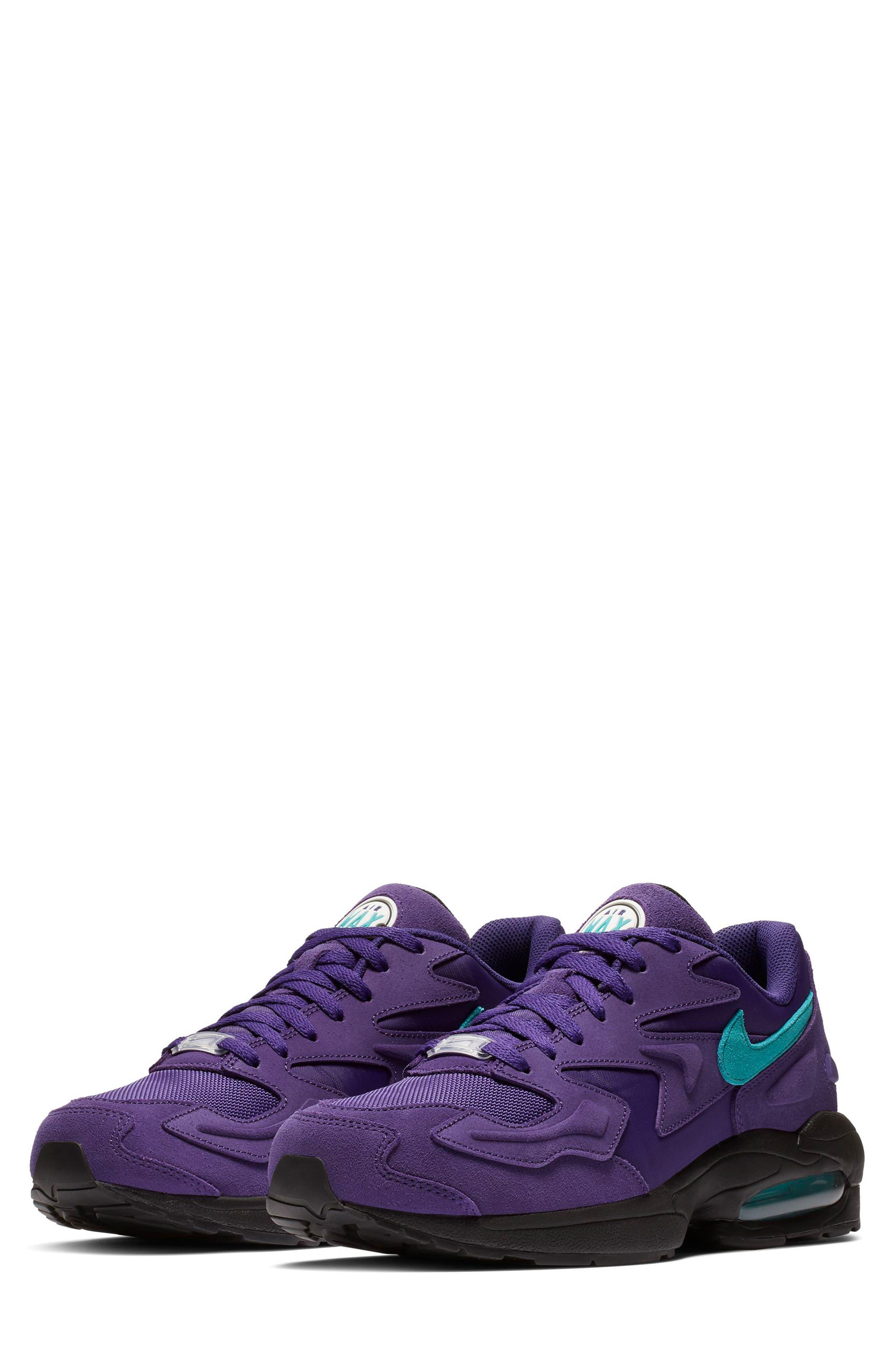 NIKE, Air Max2 Light Sneaker, Main thumbnail 1, color, PURPLE/ TEAL/ BLACK/ WHITE