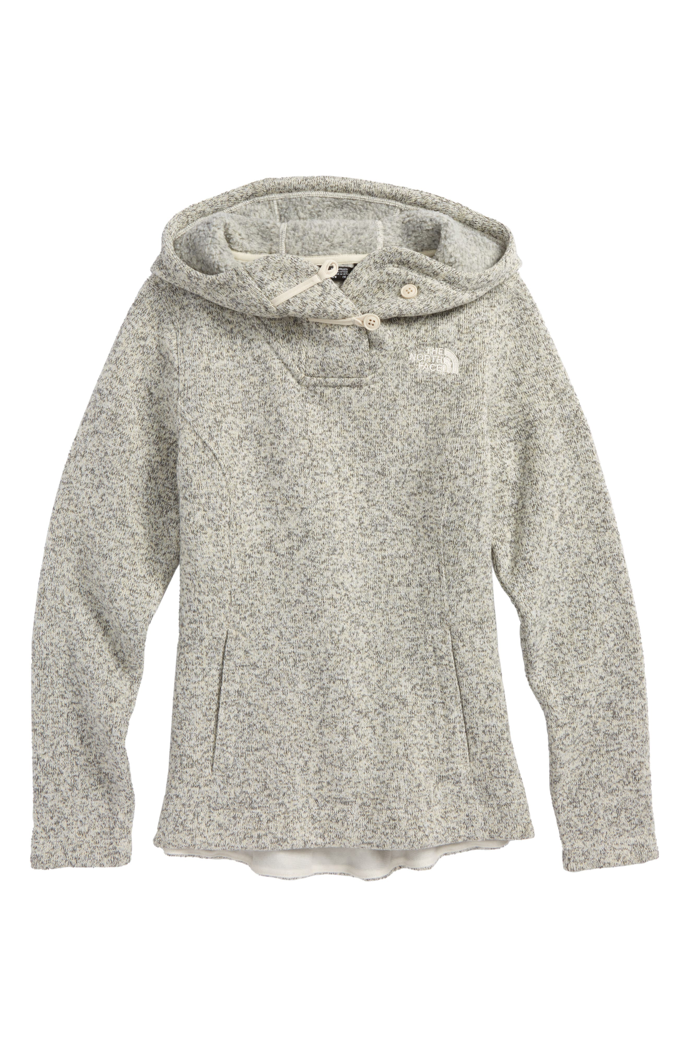 Girls The North Face Crescent Sunset Hoodie Size L (1416)  White