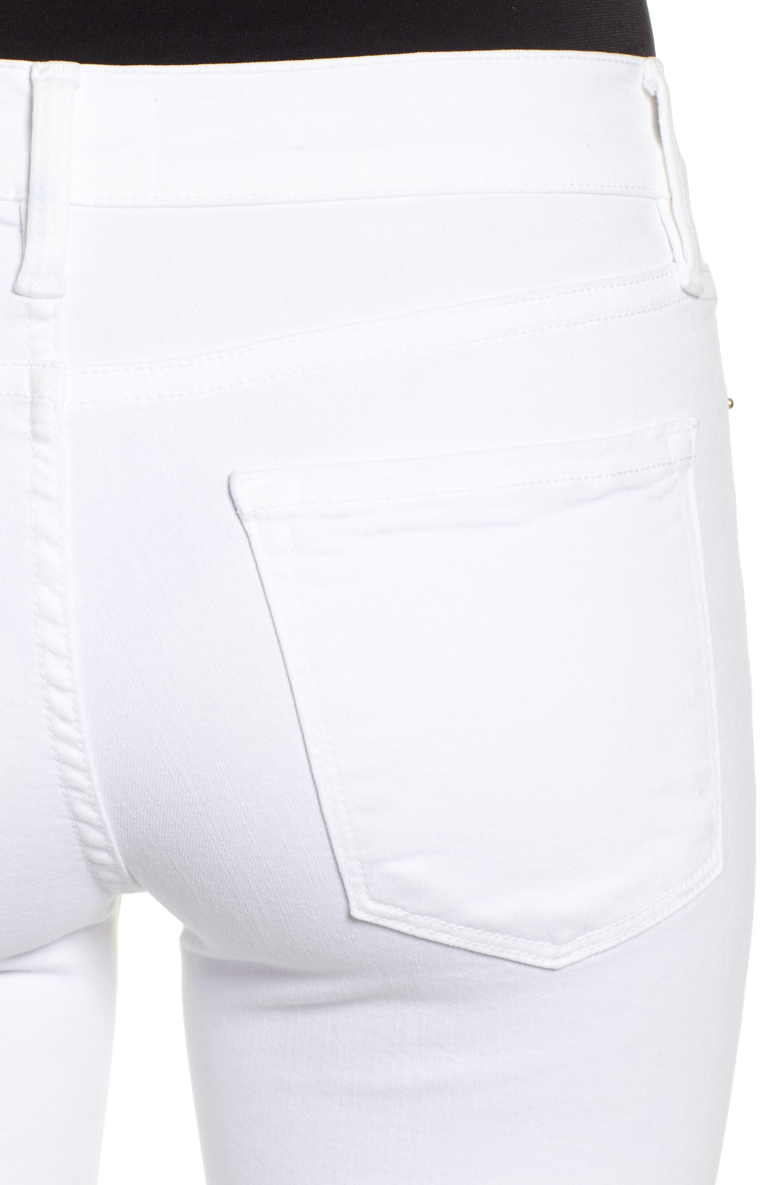 FRAME, Le Color Crop Skinny Jeans, Alternate thumbnail 5, color, BLANC