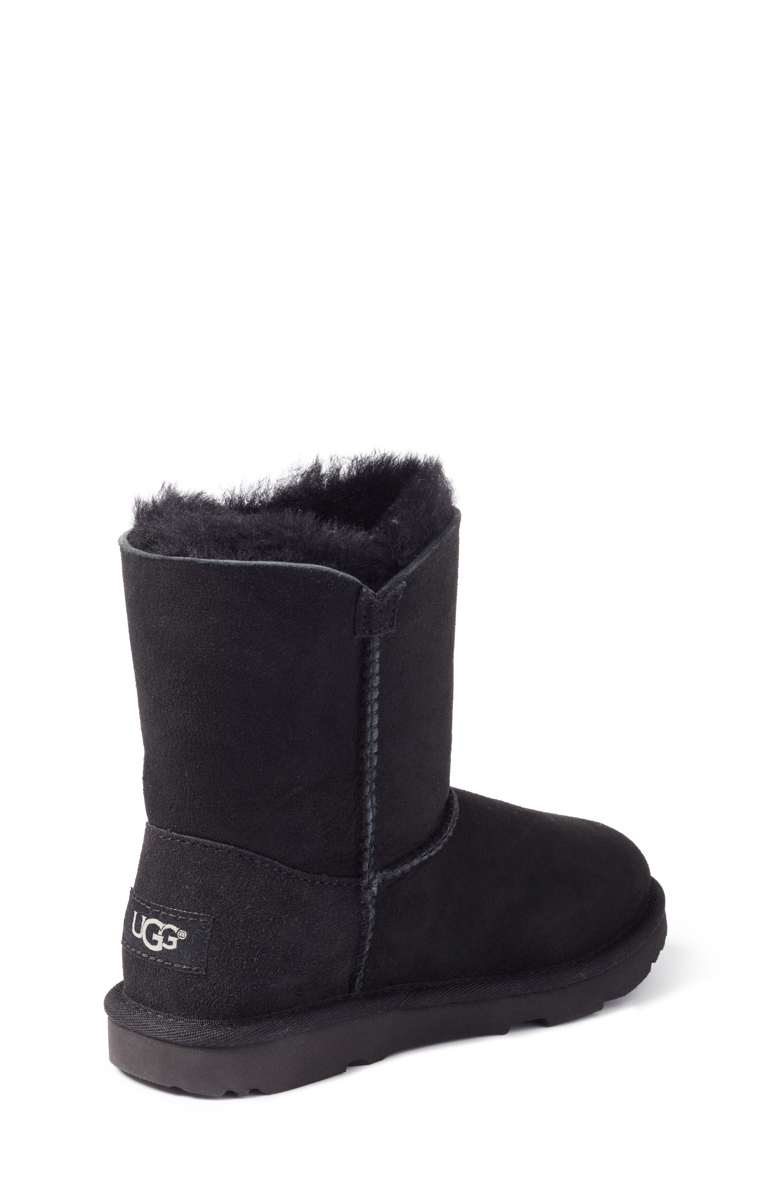 UGG<SUP>®</SUP>, Bailey Button II Water Resistant Genuine Shearling Boot, Alternate thumbnail 2, color, BLACK SUEDE