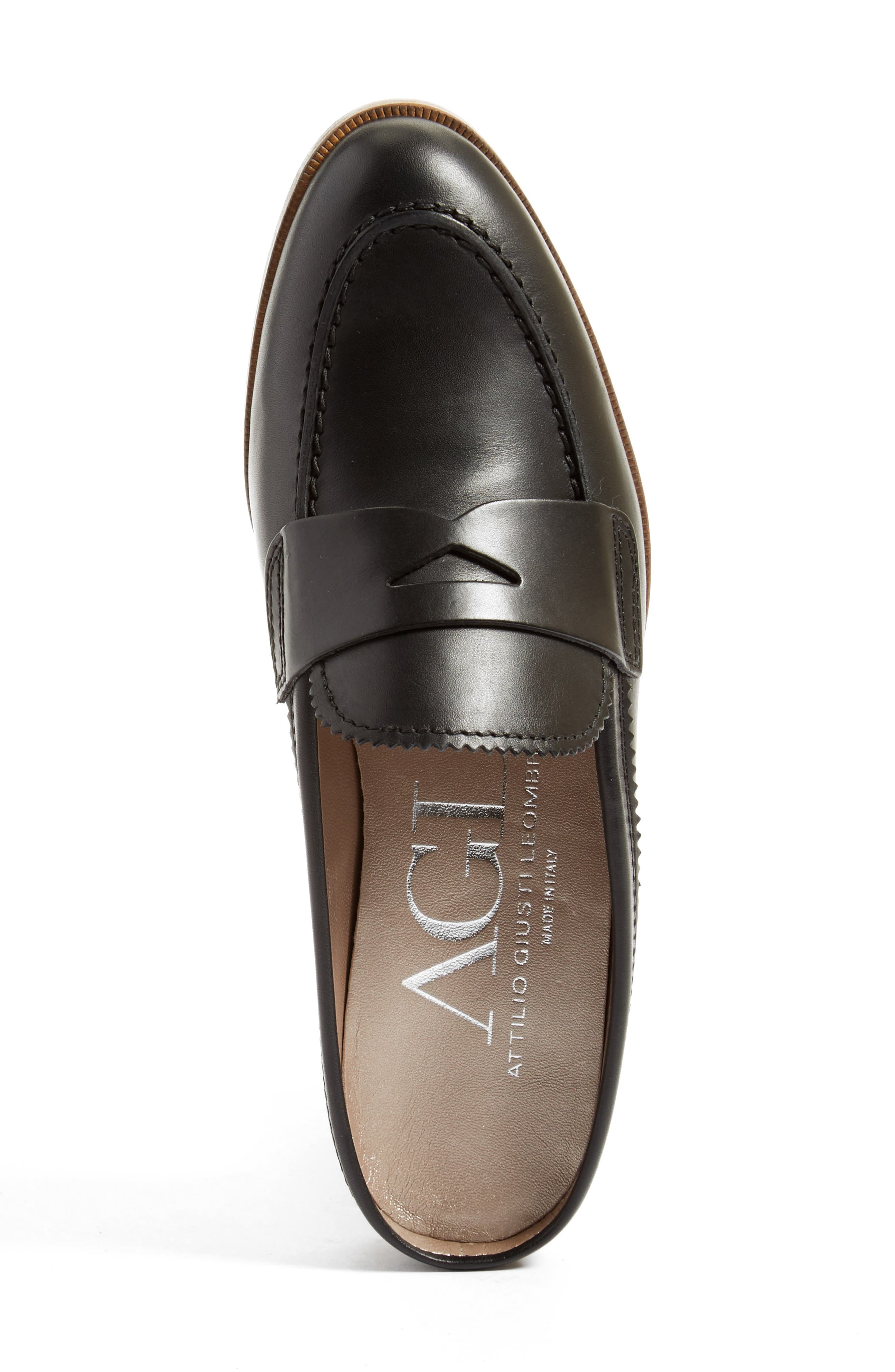 AGL, Penny Loafer Mule, Alternate thumbnail 3, color, 001