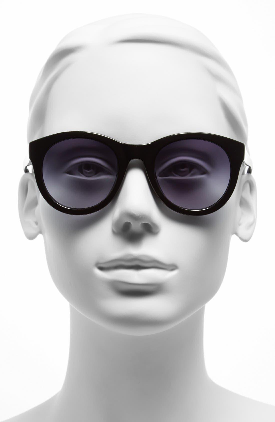 MICHAEL MICHAEL KORS, 'Rosie' 49mm Sunglasses, Alternate thumbnail 2, color, 001