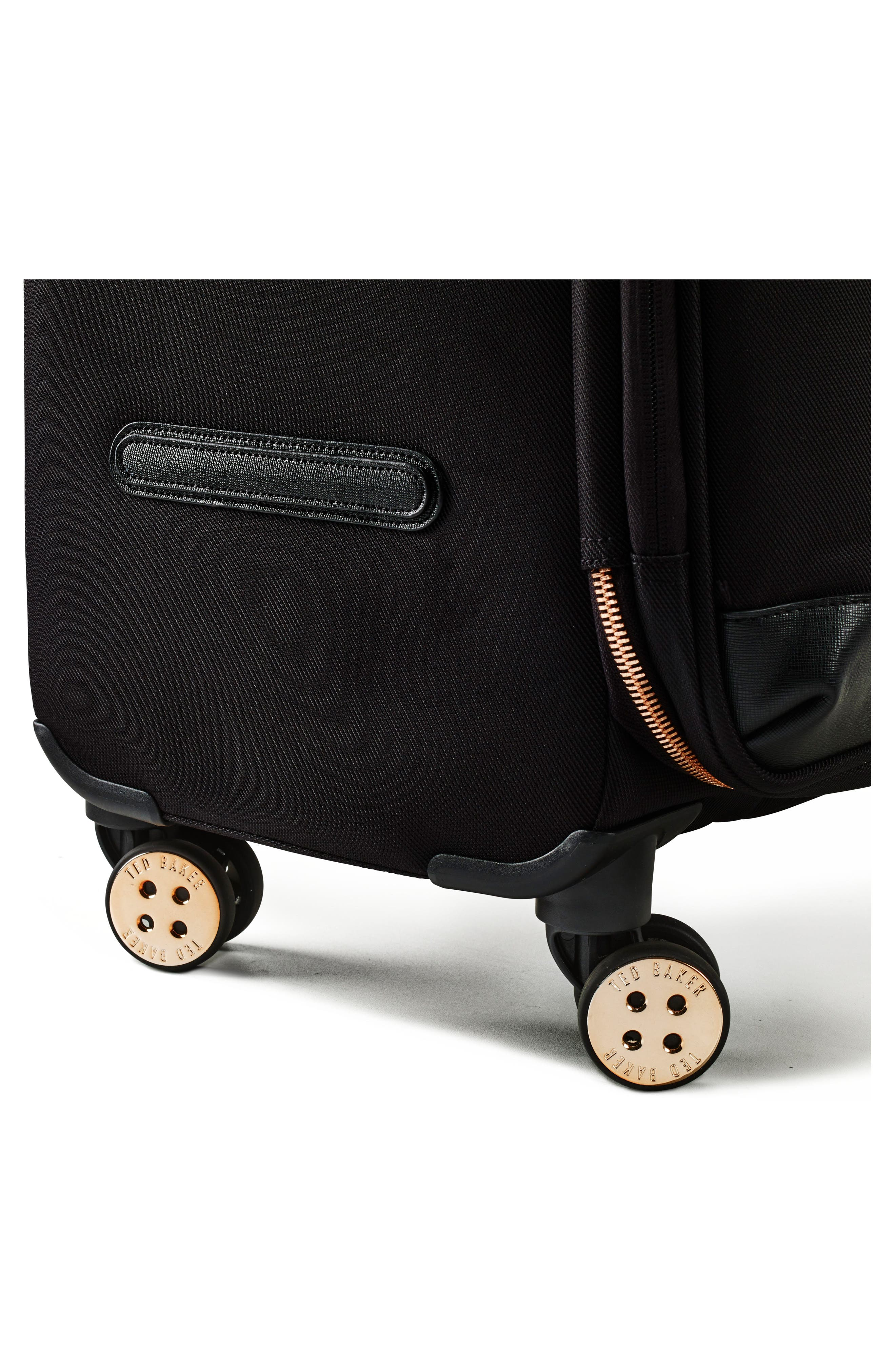 TED BAKER LONDON, Medium Albany 27-Inch Spinner Suitcase, Alternate thumbnail 5, color, BLACK