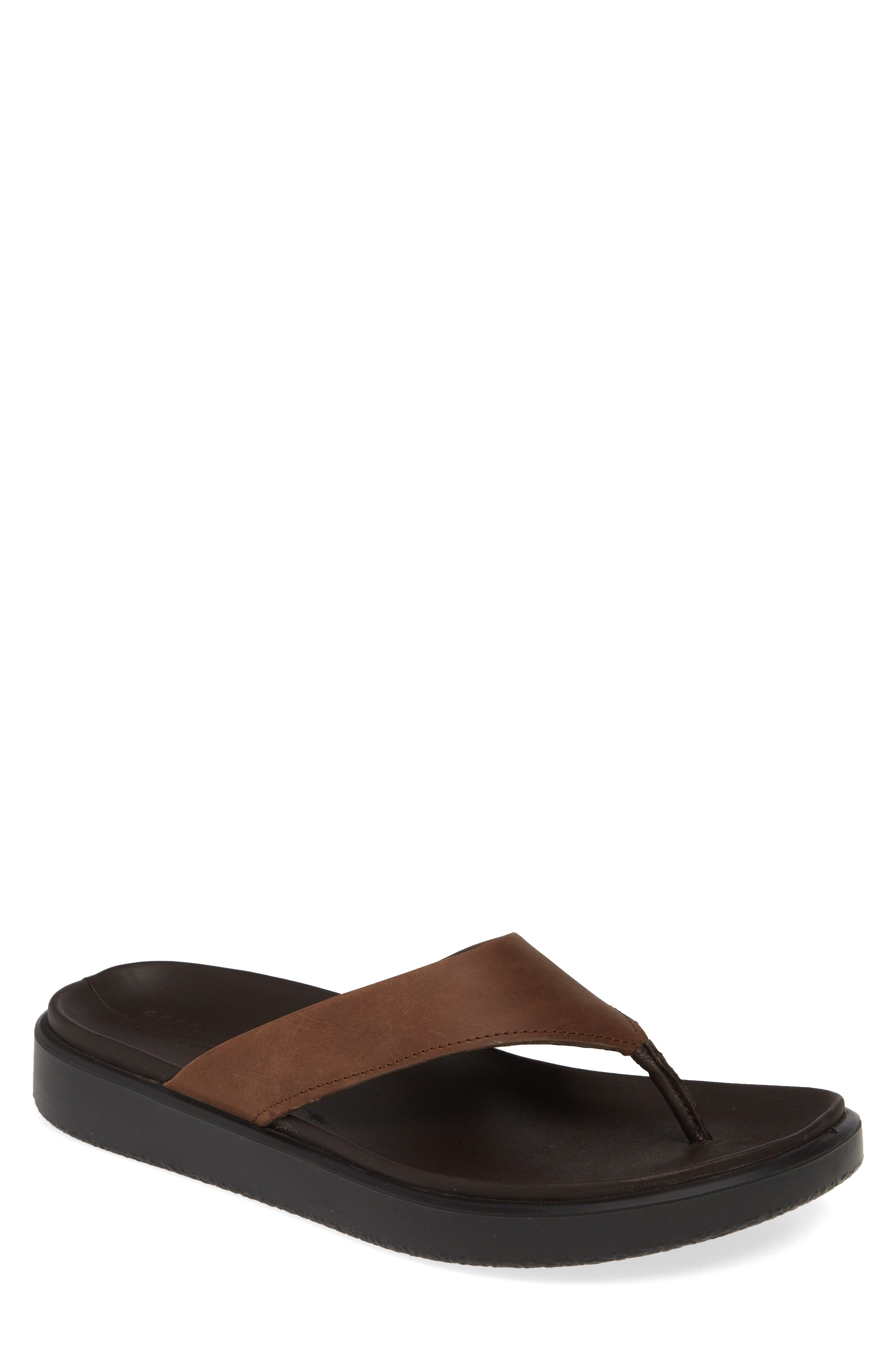 ECCO, Flowt LX Flip Flop, Main thumbnail 1, color, COCOA BROWN OILED NUBUCK