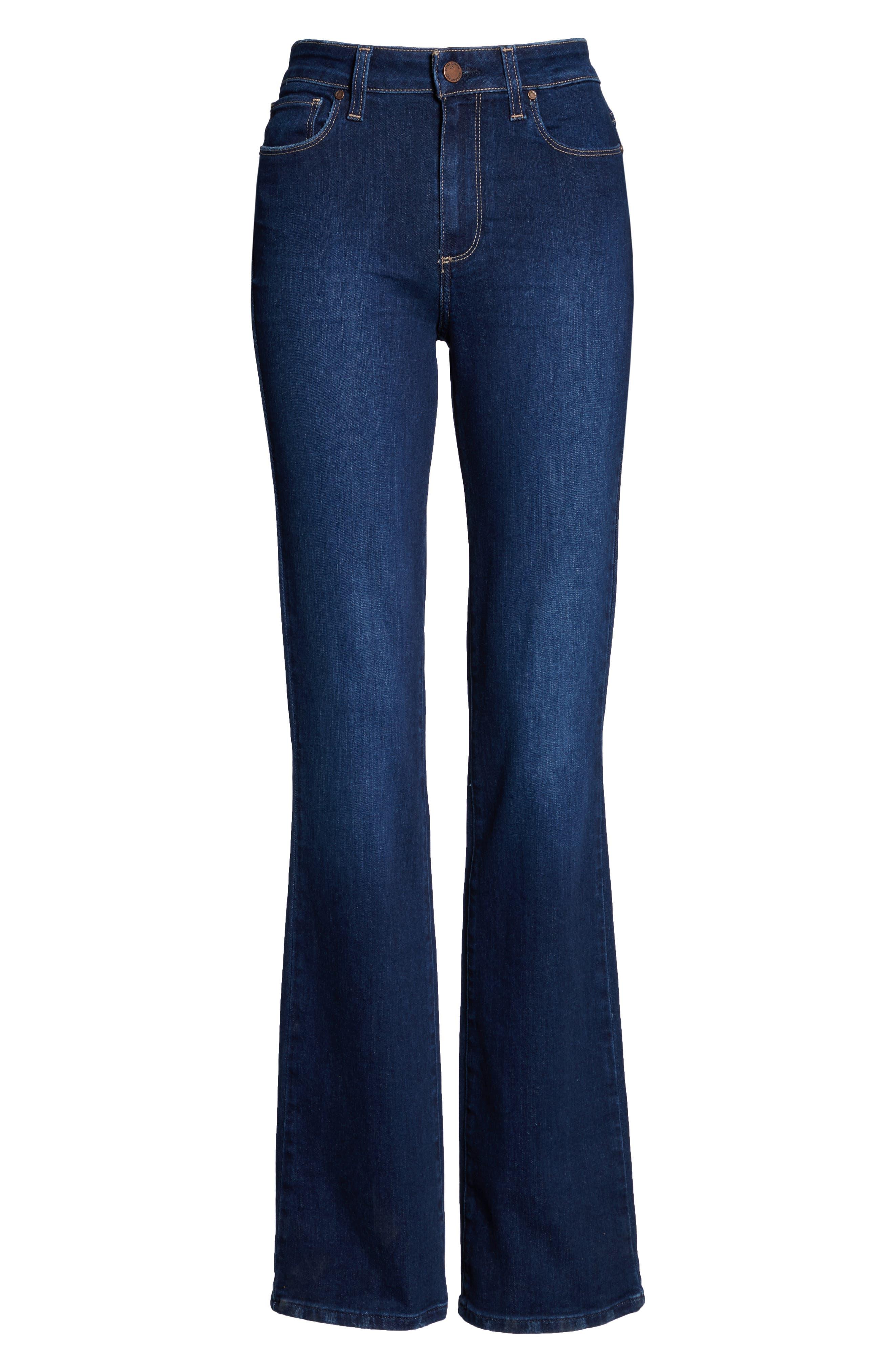 PAIGE, Transcend Vintage - Manhattan Bootcut Jeans, Alternate thumbnail 6, color, 400