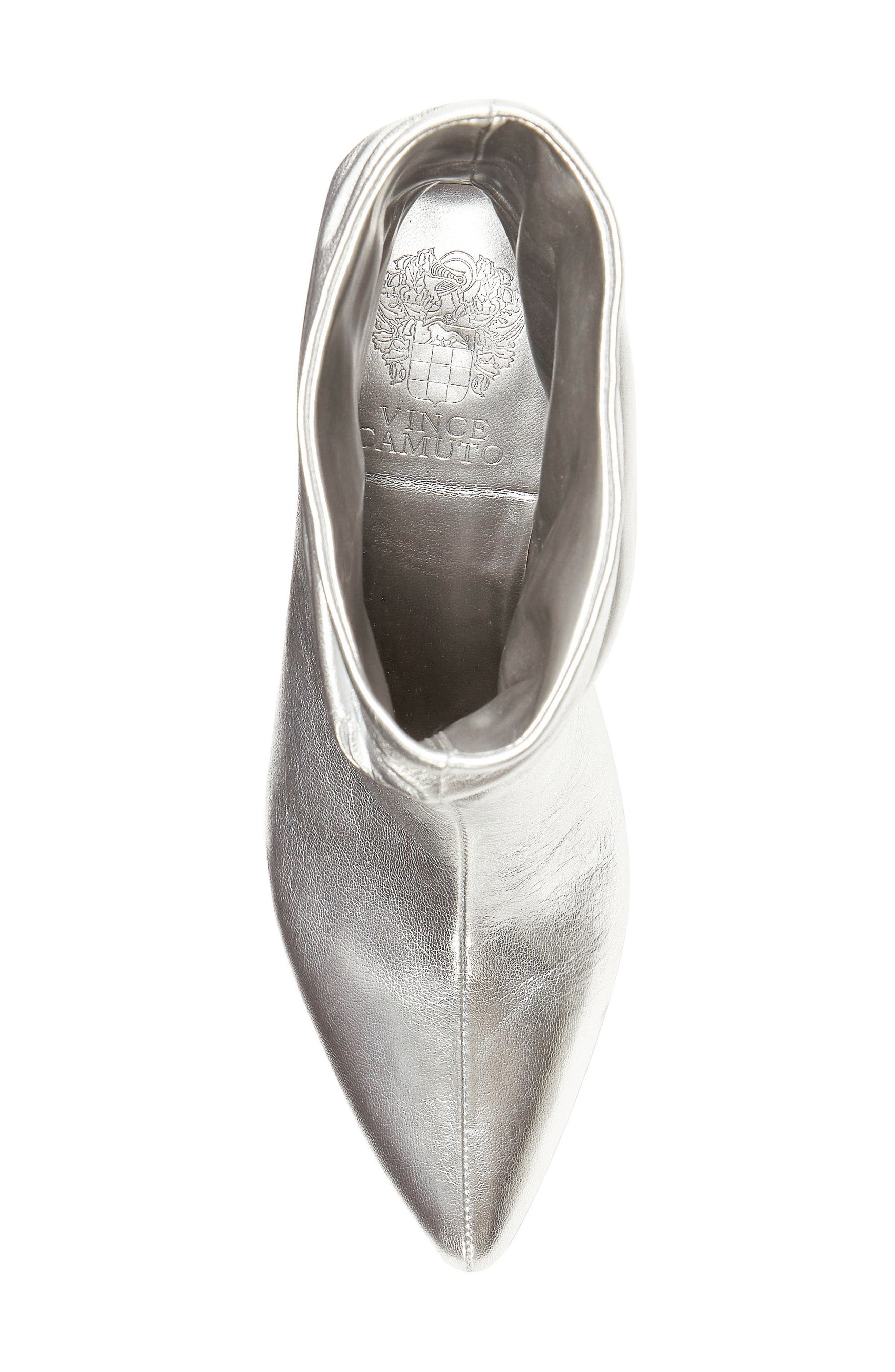 VINCE CAMUTO, Abrianna Bootie, Alternate thumbnail 5, color, GLEAMING SILVER LEATHER