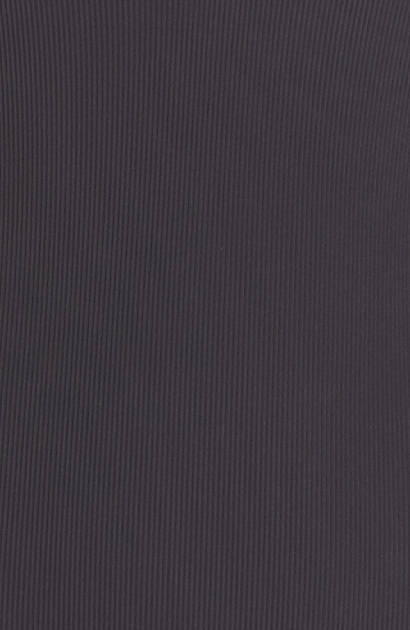 L SPACE, Dakota Ribbed One-Piece Swimsuit, Alternate thumbnail 6, color, BLACK