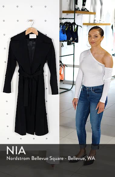 Loro Piana Wool Wrap Coat, sales video thumbnail