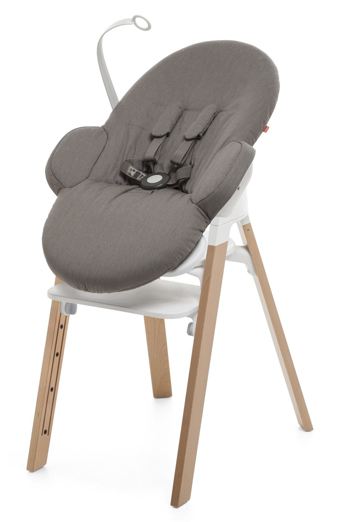 STOKKE, 'Steps<sup>™</sup>' Bouncer, Alternate thumbnail 5, color, GREIGE