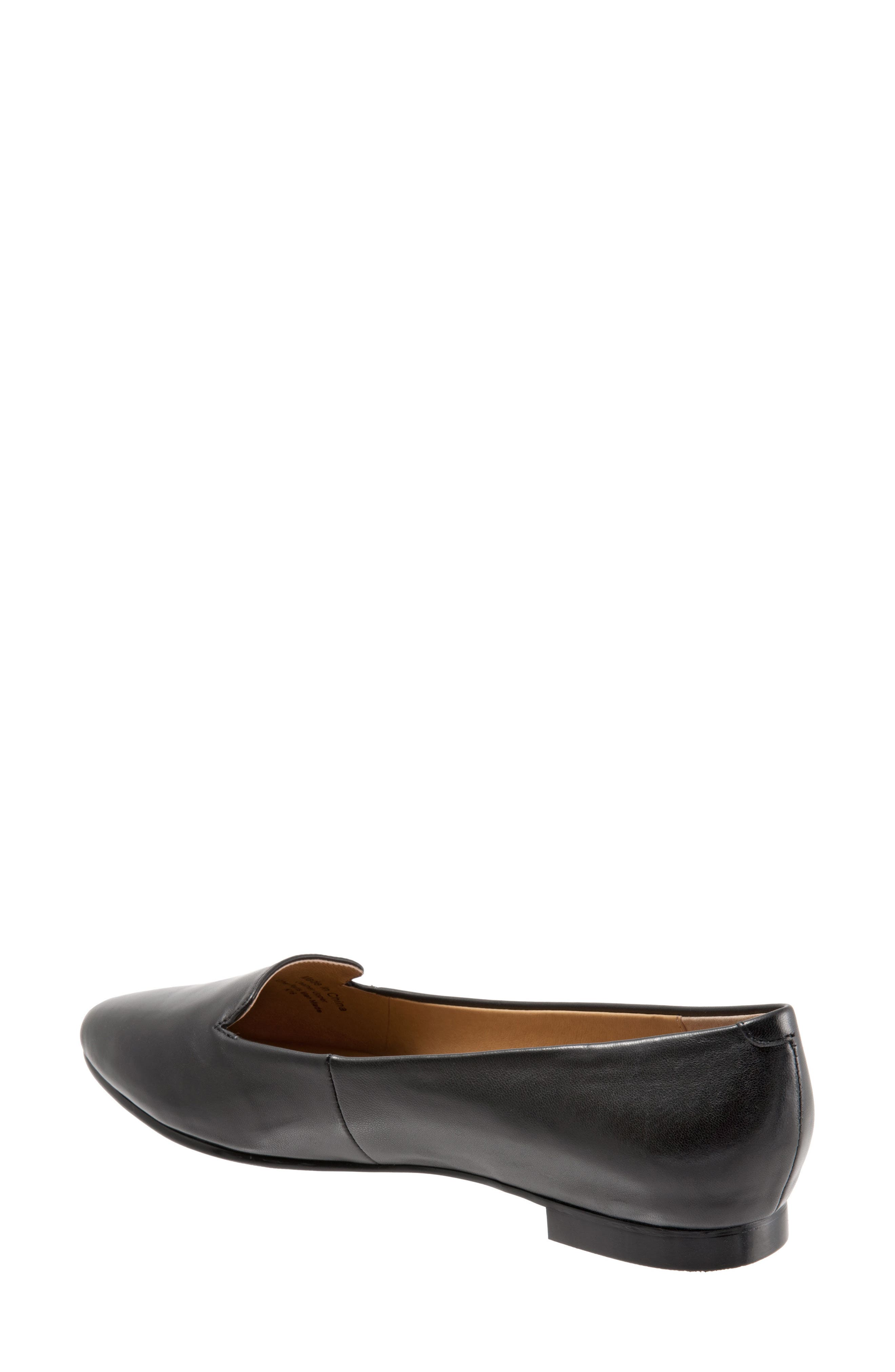 TROTTERS, Harlowe Pointy Toe Loafer, Alternate thumbnail 2, color, BLACK LEATHER