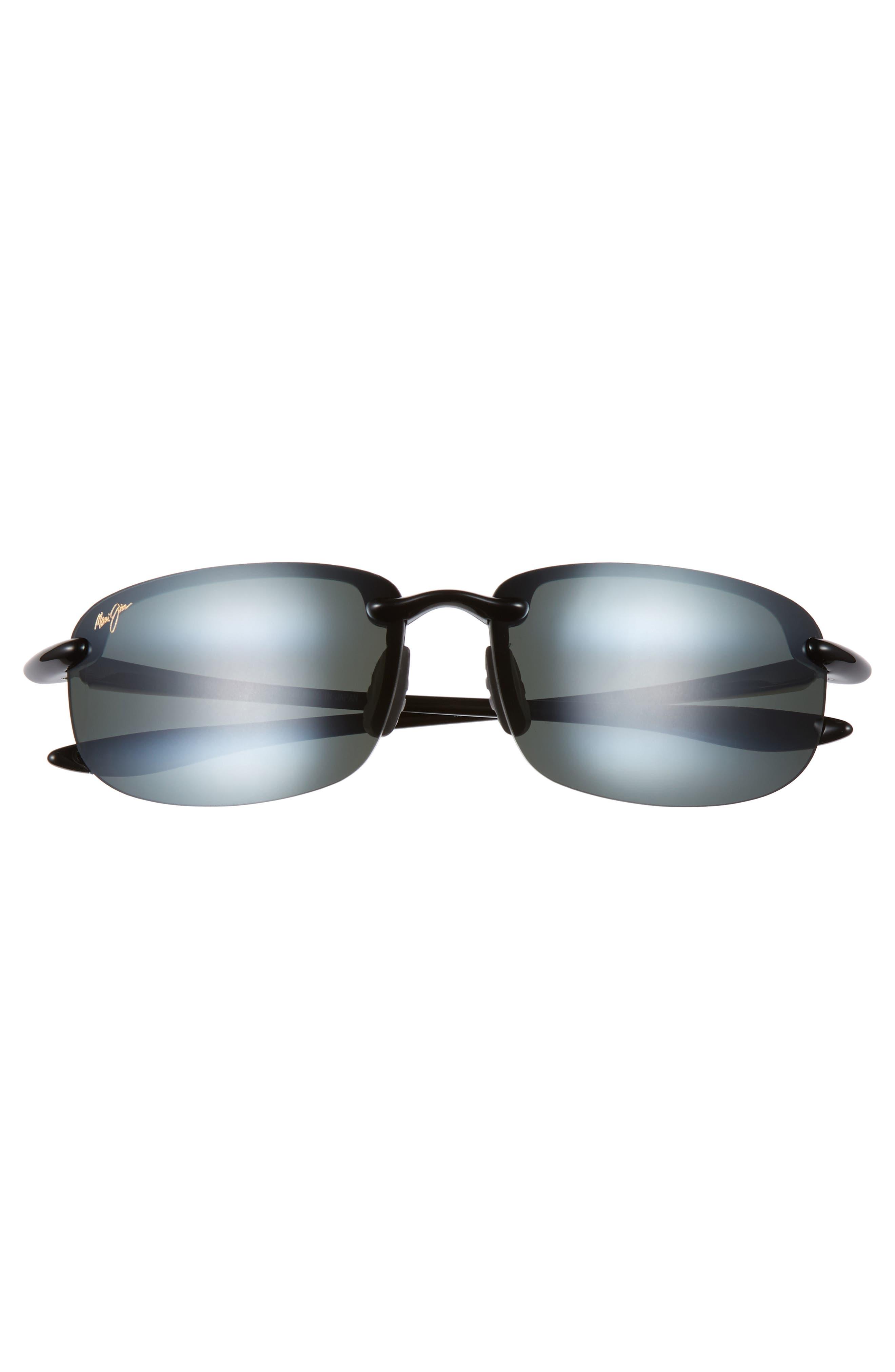 MAUI JIM, 'Ho'okipa - PolarizedPlus<sup>®</sup>2' 63mm Sunglasses, Alternate thumbnail 3, color, BLACK