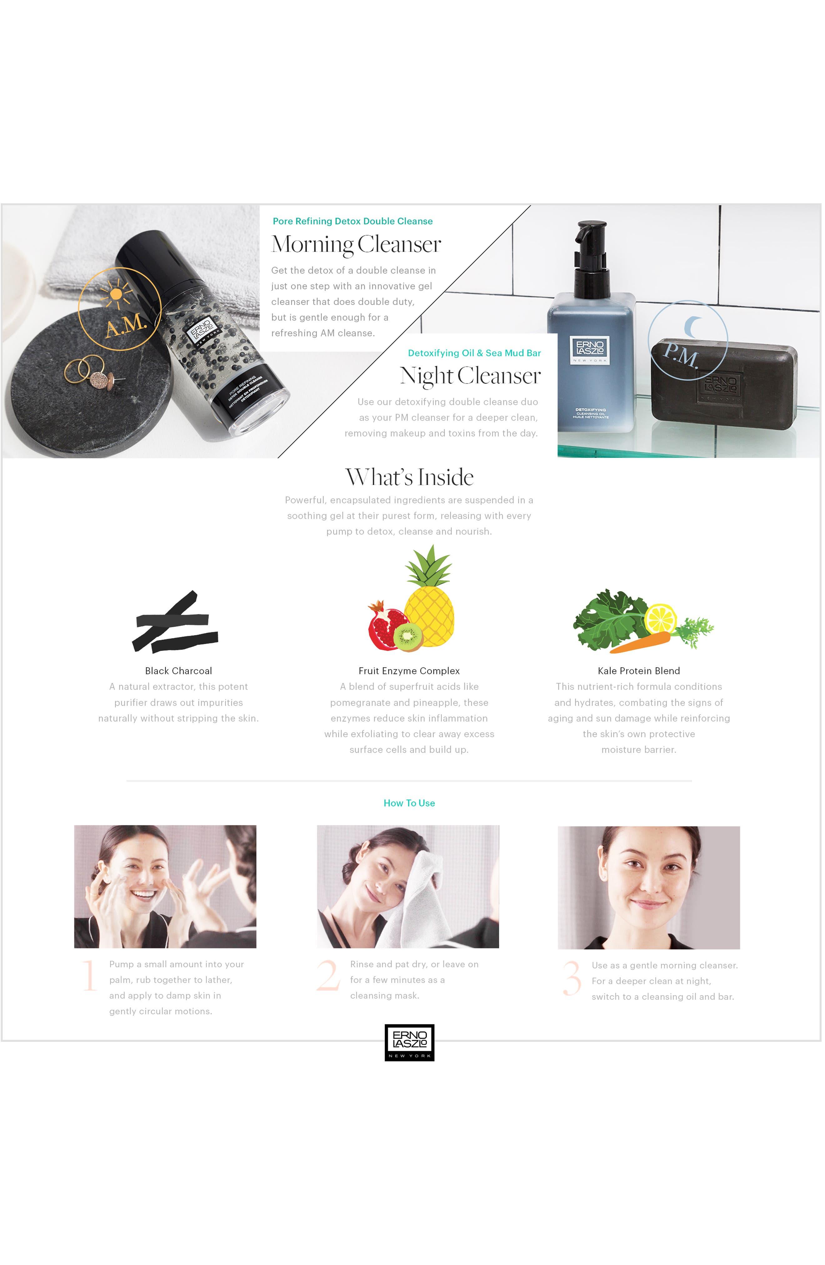 ERNO LASZLO, Pore Refining Detox Double Cleanse, Alternate thumbnail 3, color, NO COLOR