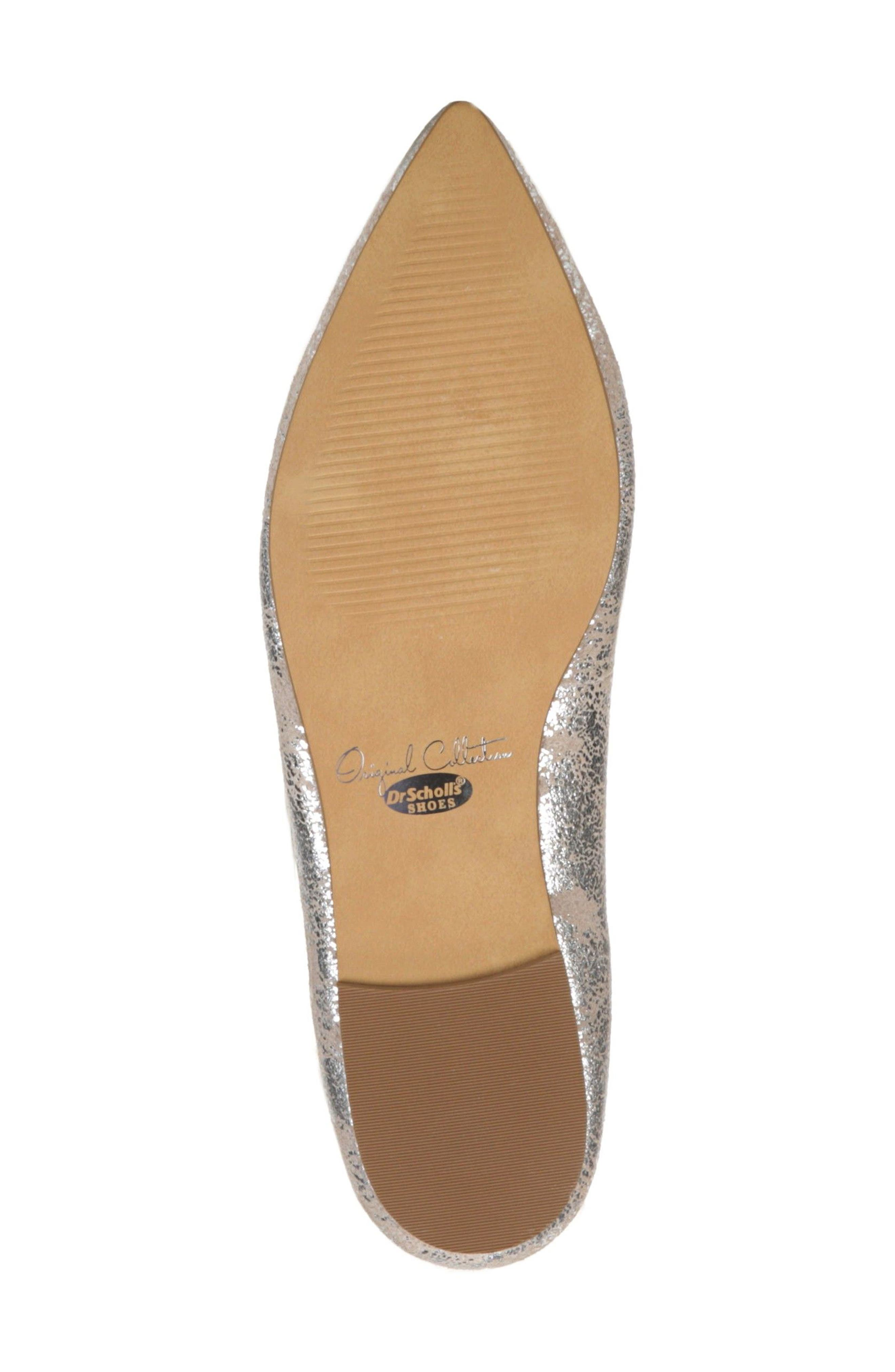 DR. SCHOLL'S, Original Collection Kimber Flat, Alternate thumbnail 6, color, PEWTER LEATHER