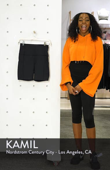 Live In High Waist Pocket Bike Shorts, sales video thumbnail