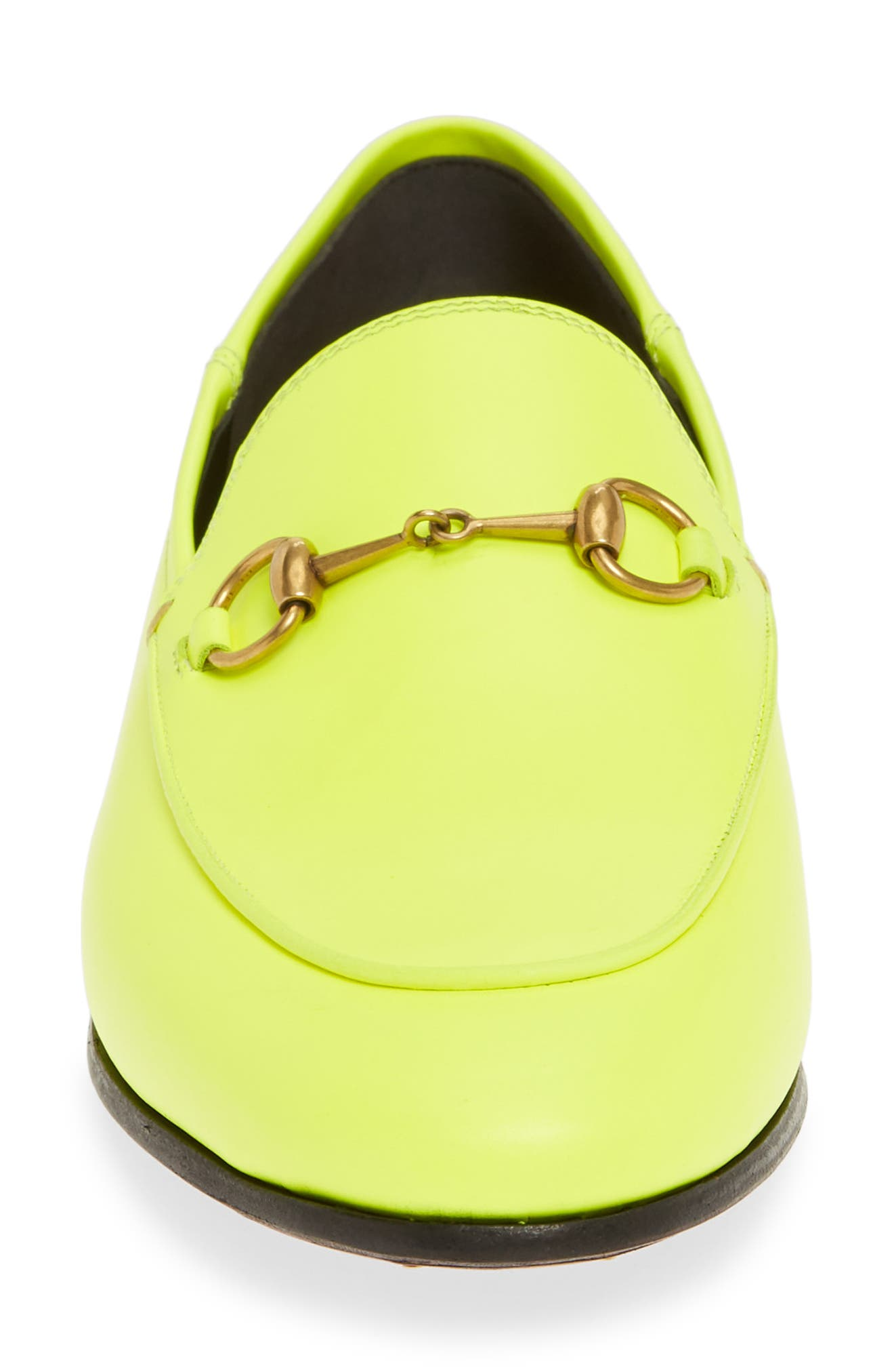 GUCCI, Brixton Convertible Loafer, Alternate thumbnail 4, color, YELLOW FLUO LEATHER
