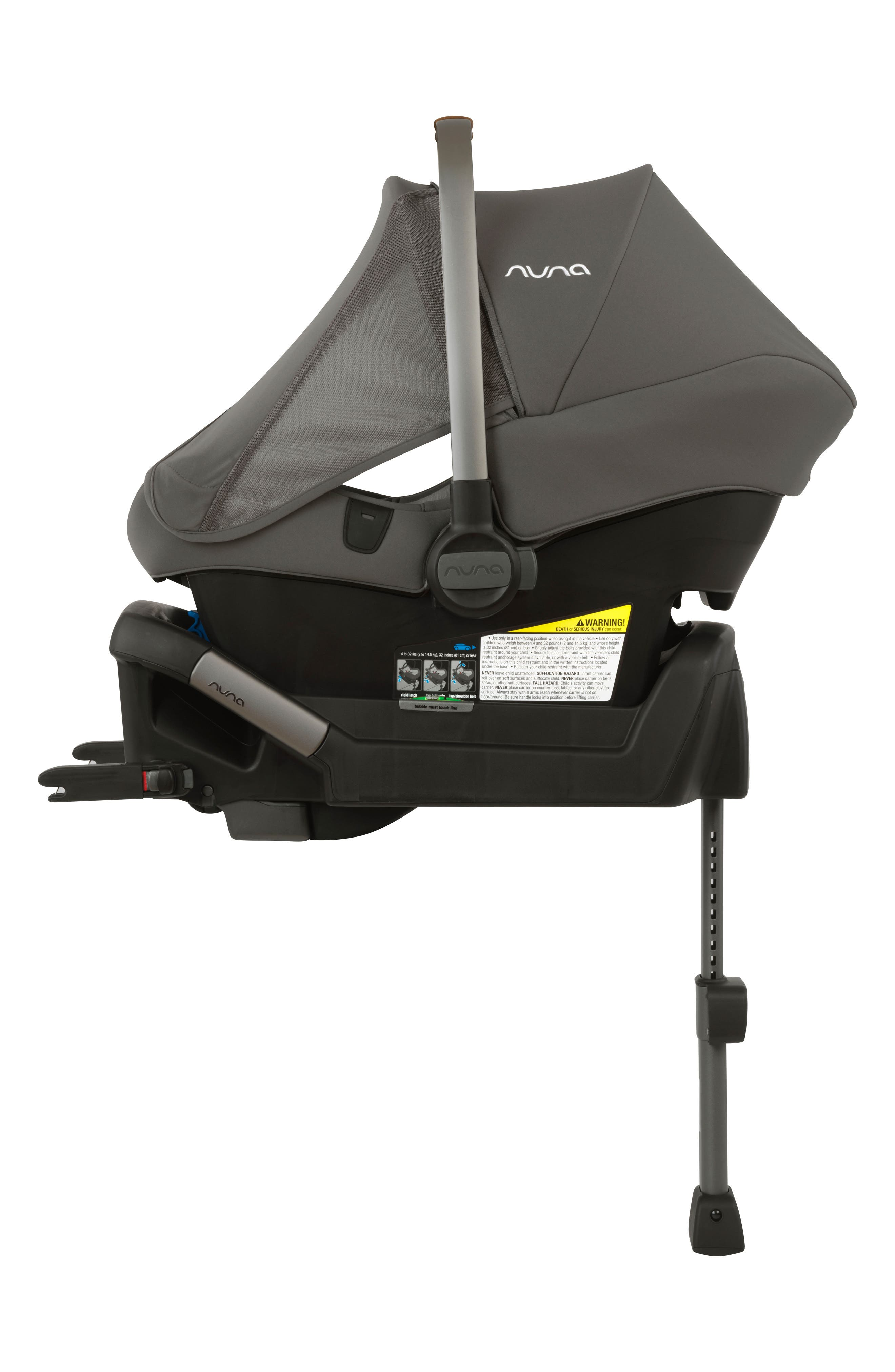 NUNA, PIPA<sup>™</sup> Lite LX Infant Car Seat & Base, Alternate thumbnail 6, color, FROST