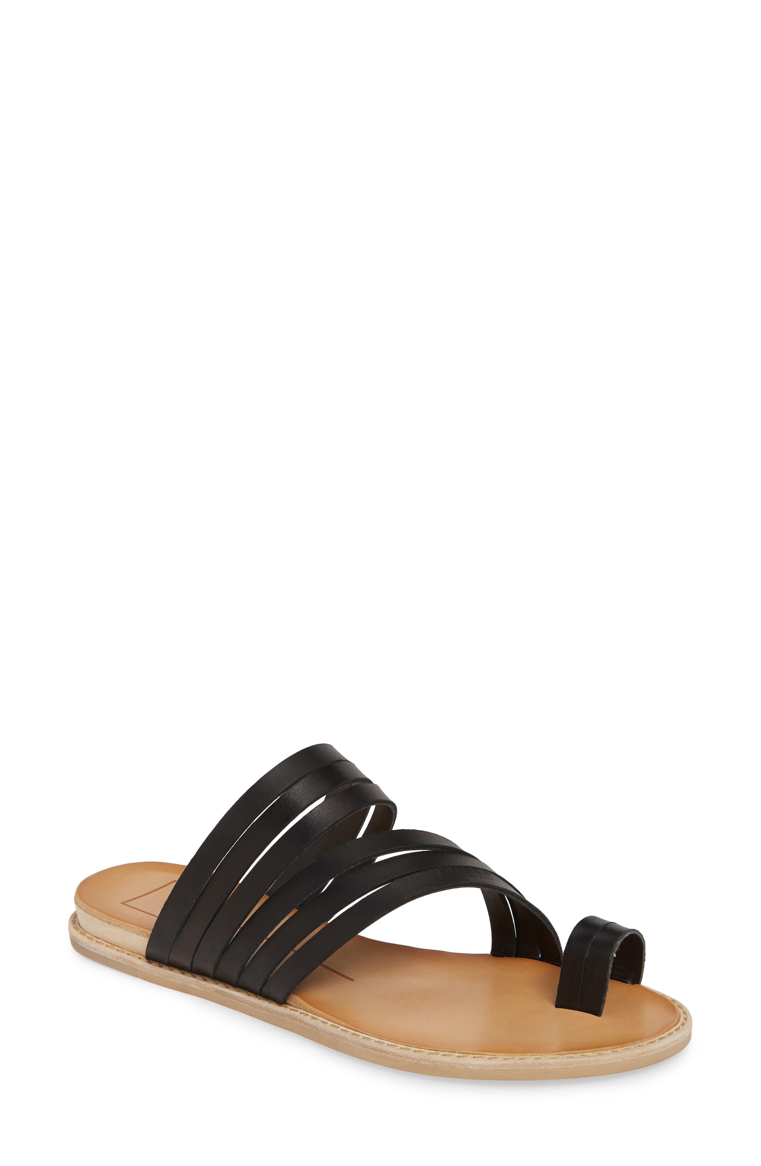 DOLCE VITA Nelly Slide Sandal, Main, color, BLACK LEATHER