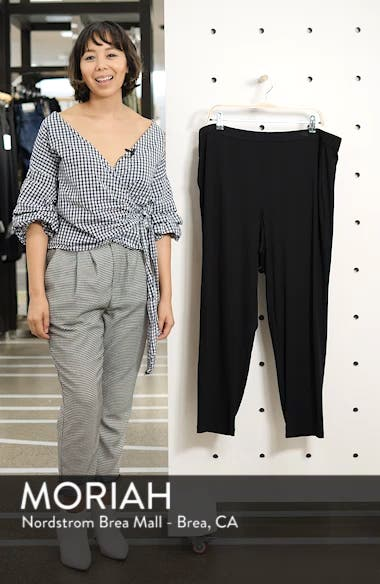 Crop Stretch Knit Pants, sales video thumbnail