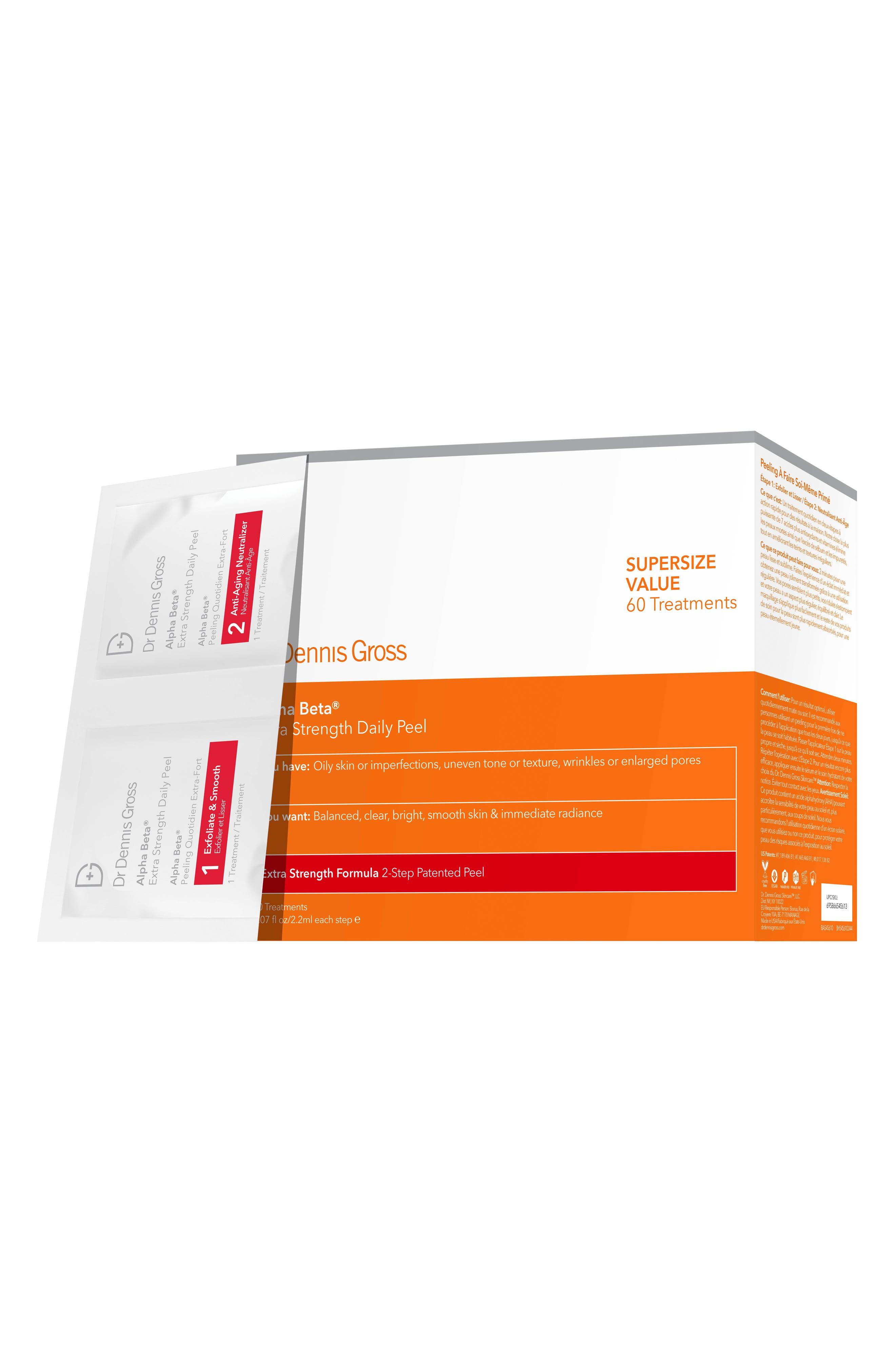 DR. DENNIS GROSS SKINCARE Alpha Beta<sup>®</sup> Peel Extra Strength Formula - 60 Applications, Main, color, NO COLOR