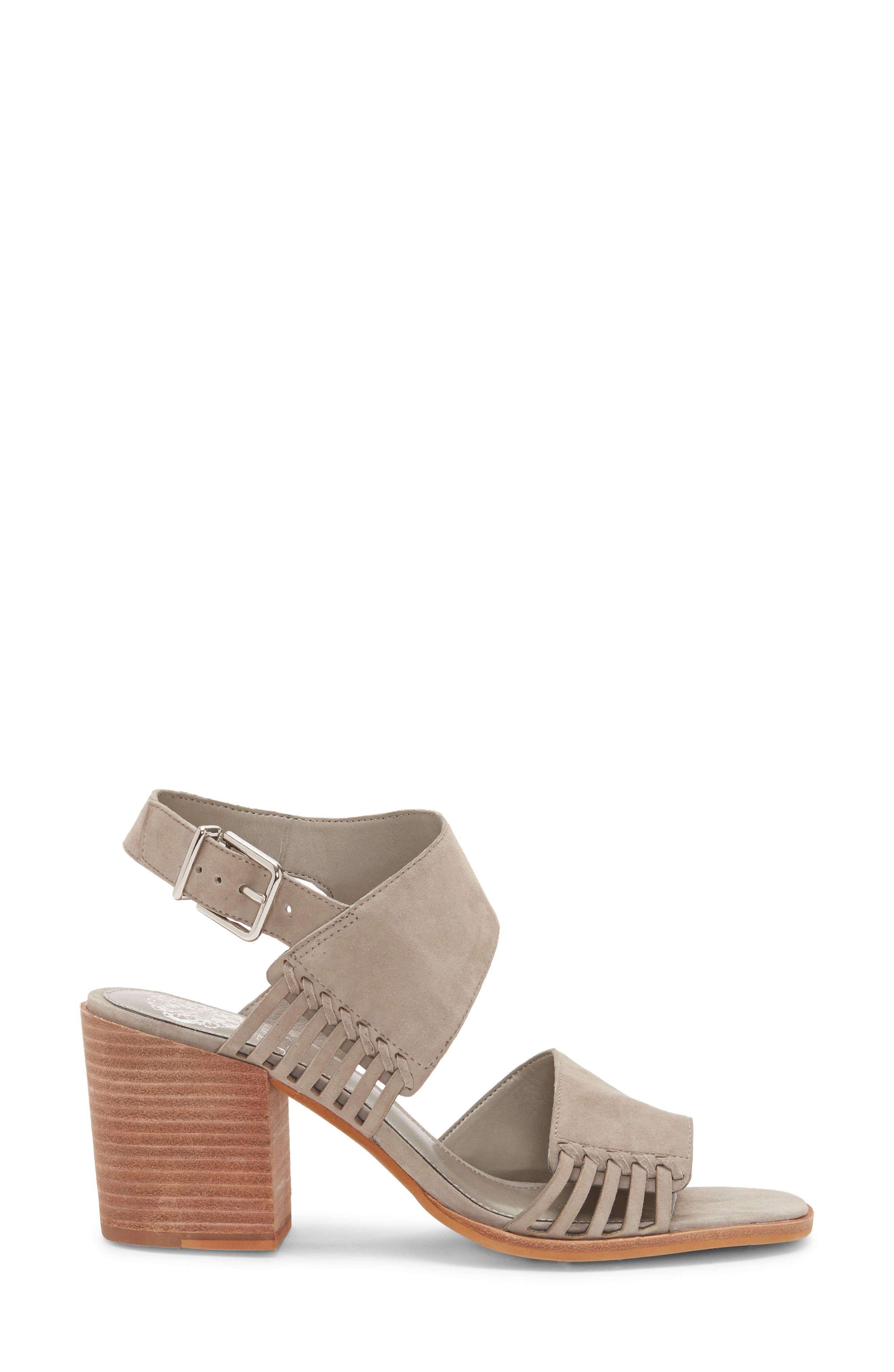 VINCE CAMUTO, Karmelo Slingback Sandal, Alternate thumbnail 3, color, STORM GREY LEATHER
