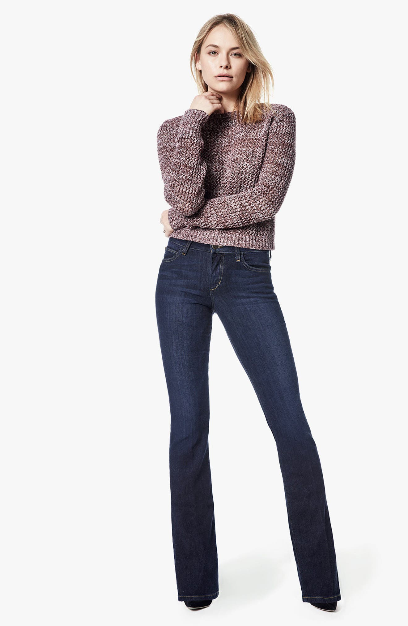 JOE'S, Honey Curvy Bootcut Jeans, Alternate thumbnail 7, color, RIKKI