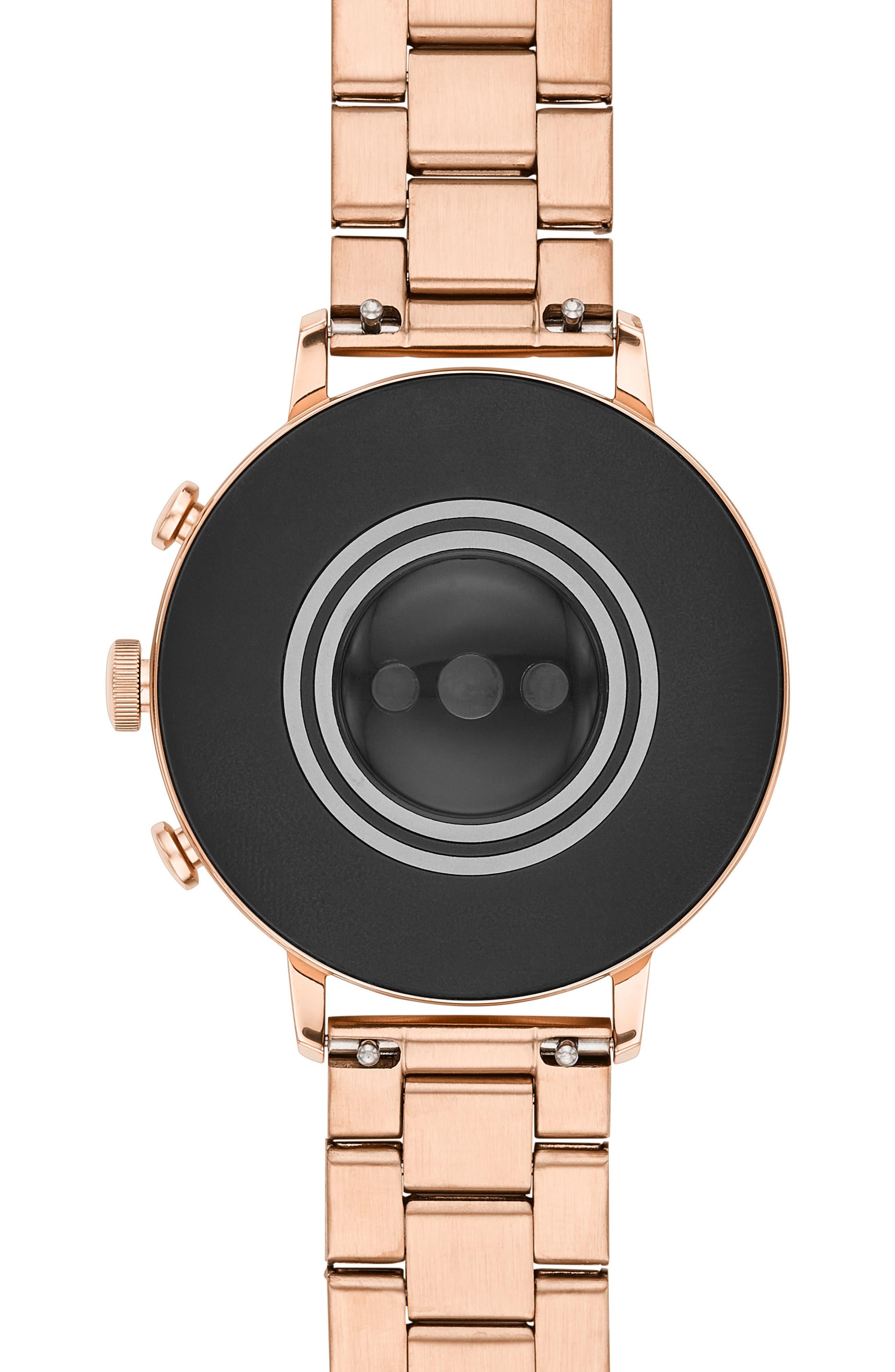 FOSSIL, Q Venture HR Bracelet Watch, 40mm, Alternate thumbnail 4, color, ROSE GOLD