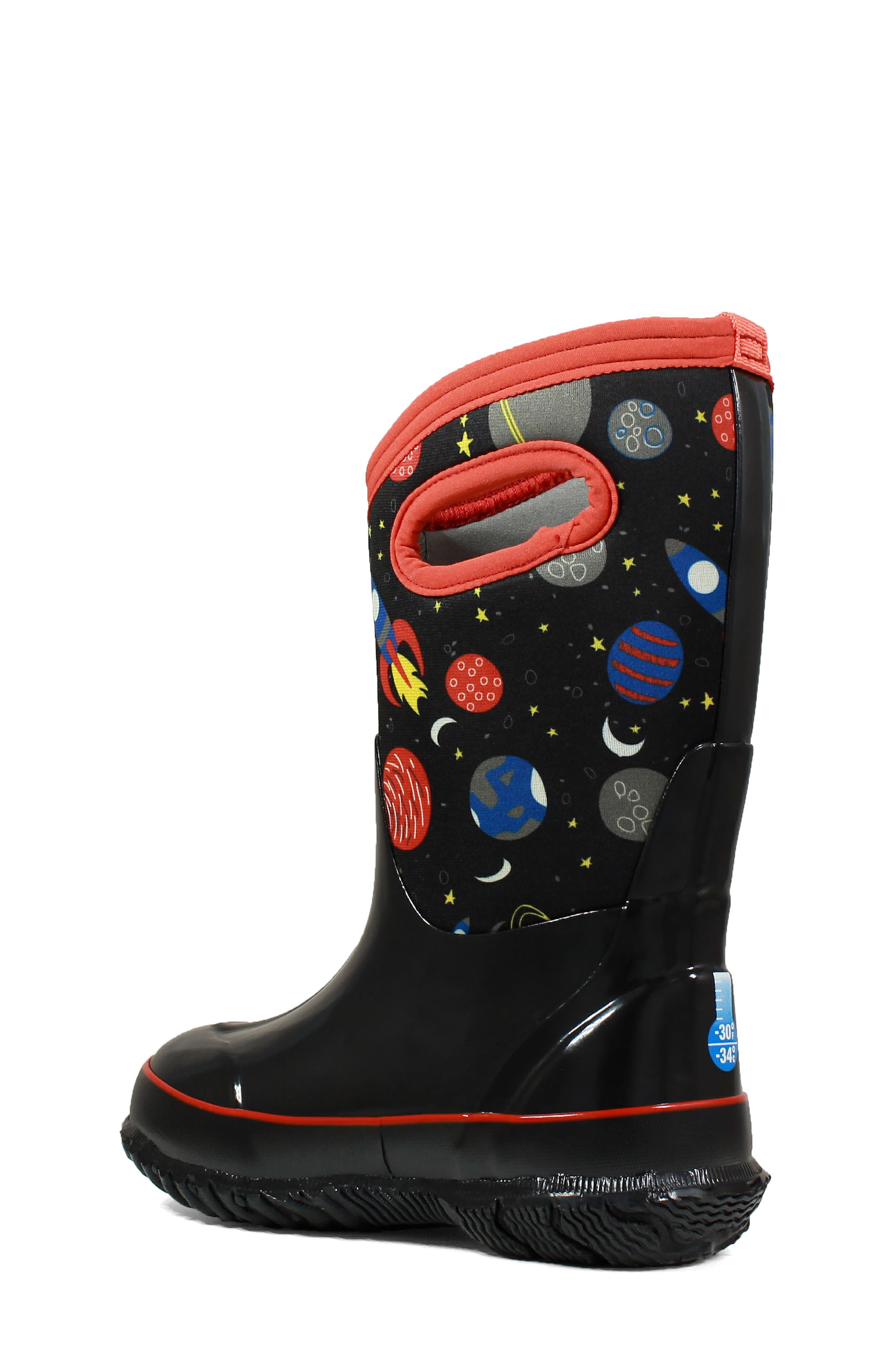 BOGS, Classic Space Insulationed Waterproof Rain Boot, Alternate thumbnail 2, color, 009