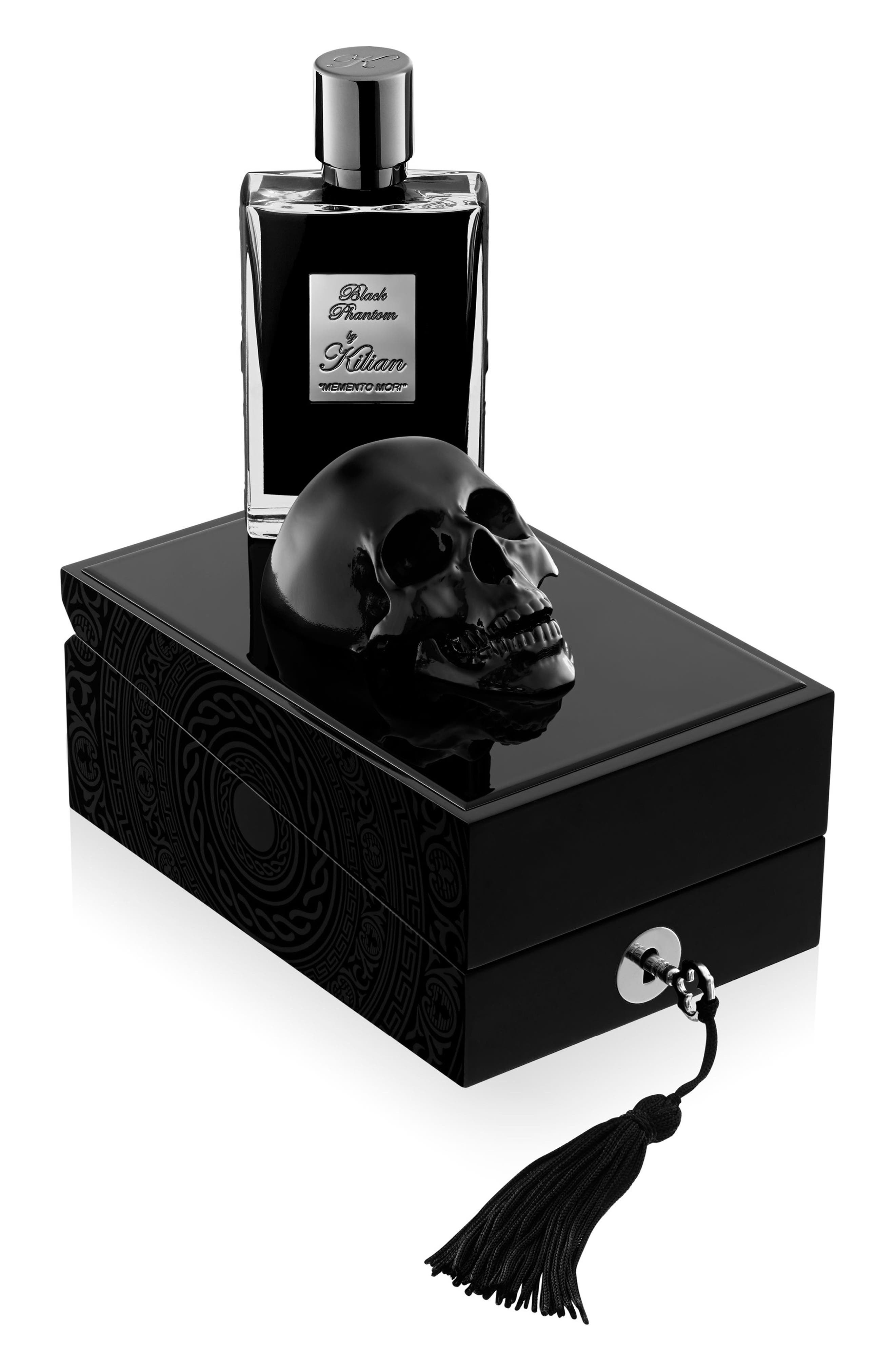 KILIAN, Black Phantom Memento Mori Eau de Parfum Refillable Spray, Alternate thumbnail 2, color, NO COLOR