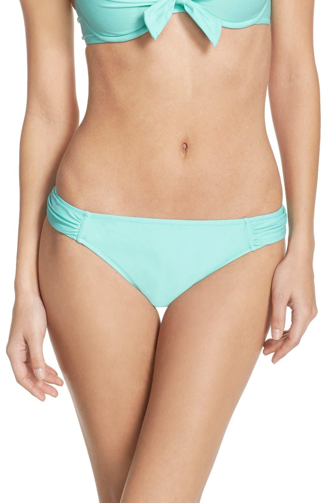 BLUSH BY PROFILE, Shirred Bikini Bottoms, Main thumbnail 1, color, 440
