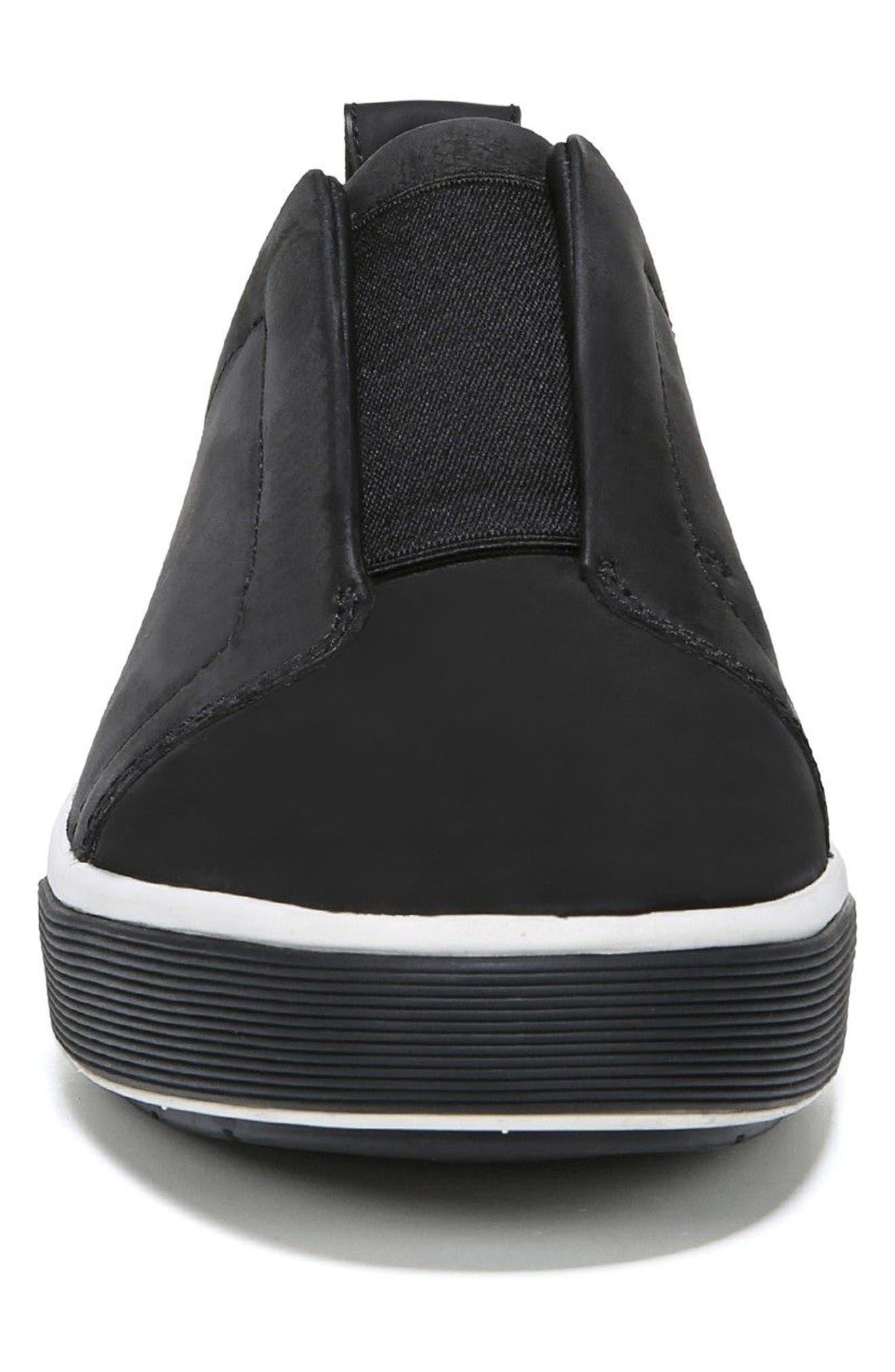 VINCE, Ranger Laceless Sneaker, Alternate thumbnail 4, color, BLACK
