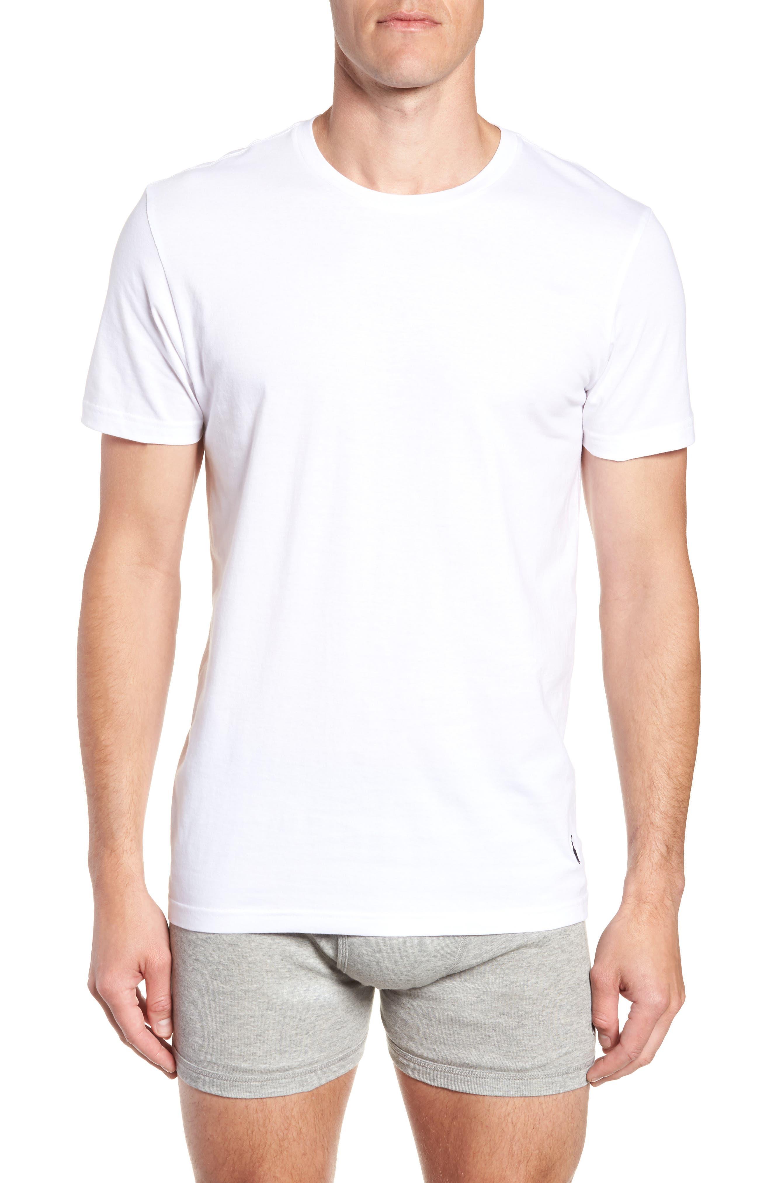 POLO RALPH LAUREN, 2-Pack Crewneck T-Shirts, Alternate thumbnail 2, color, WHITE