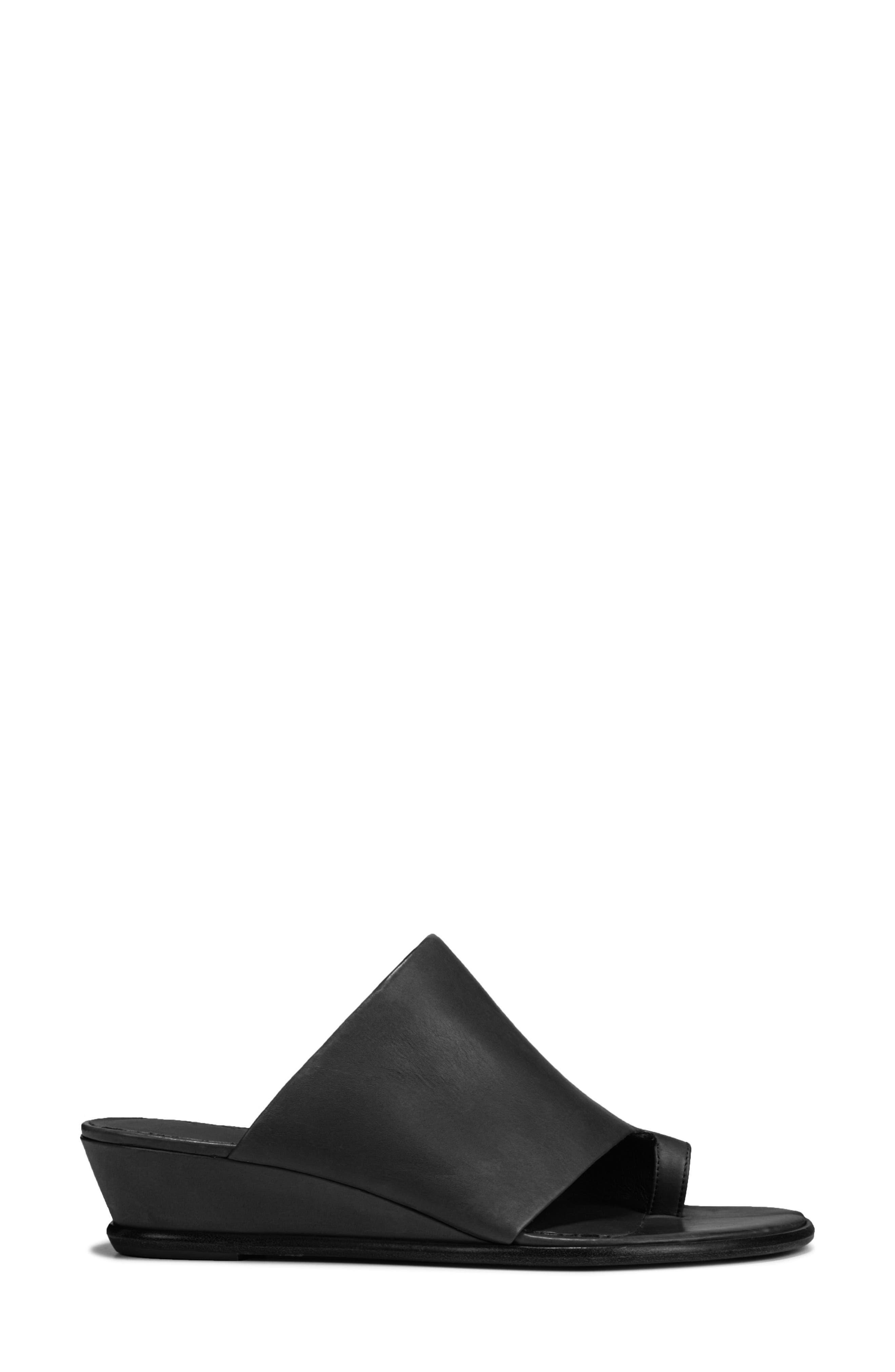 VINCE, Darla Slide Sandal, Alternate thumbnail 3, color, BLACK