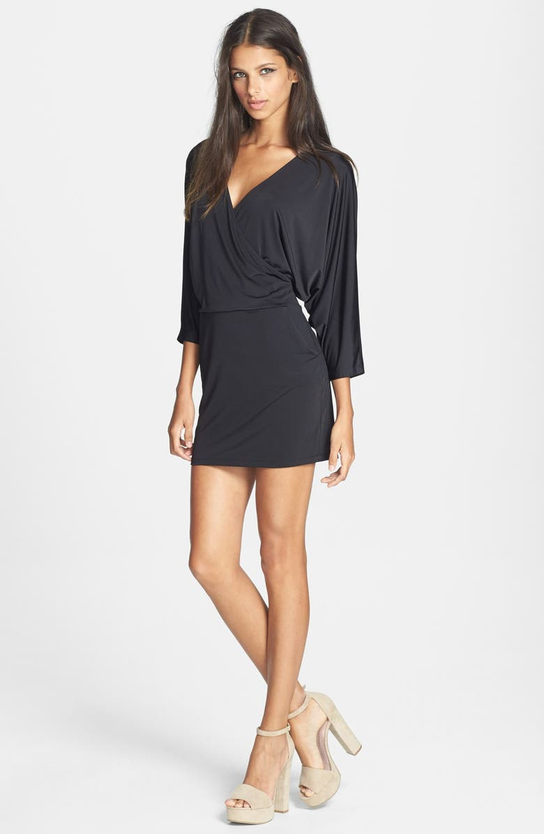6ab480fdbebe JUNE & HUDSON Surplice Dolman Sleeve Body-Con Dress, Main, color, ...