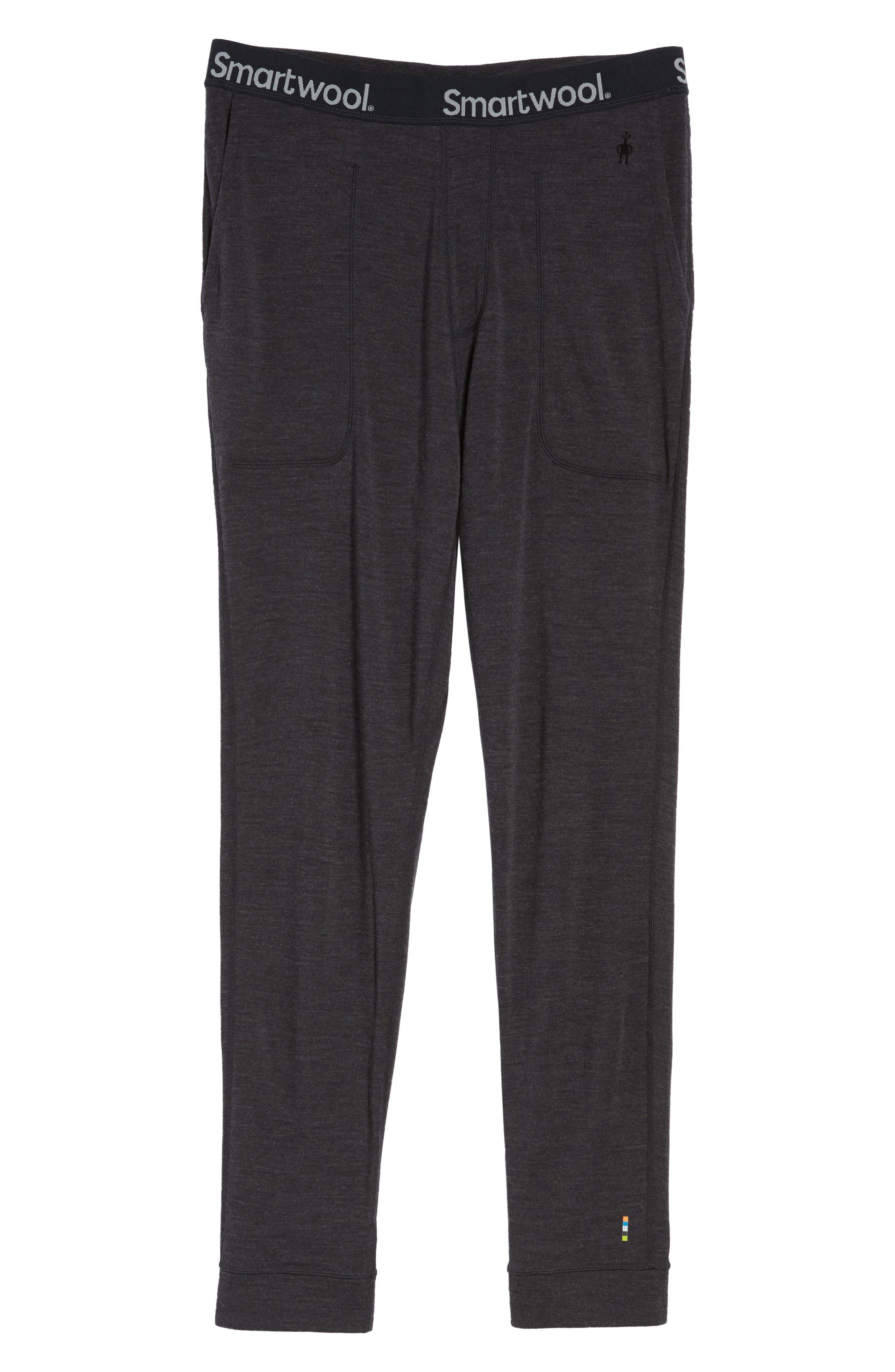 SMARTWOOL, 250 Merino Wool Jogger Pants, Alternate thumbnail 6, color, CHARCOAL