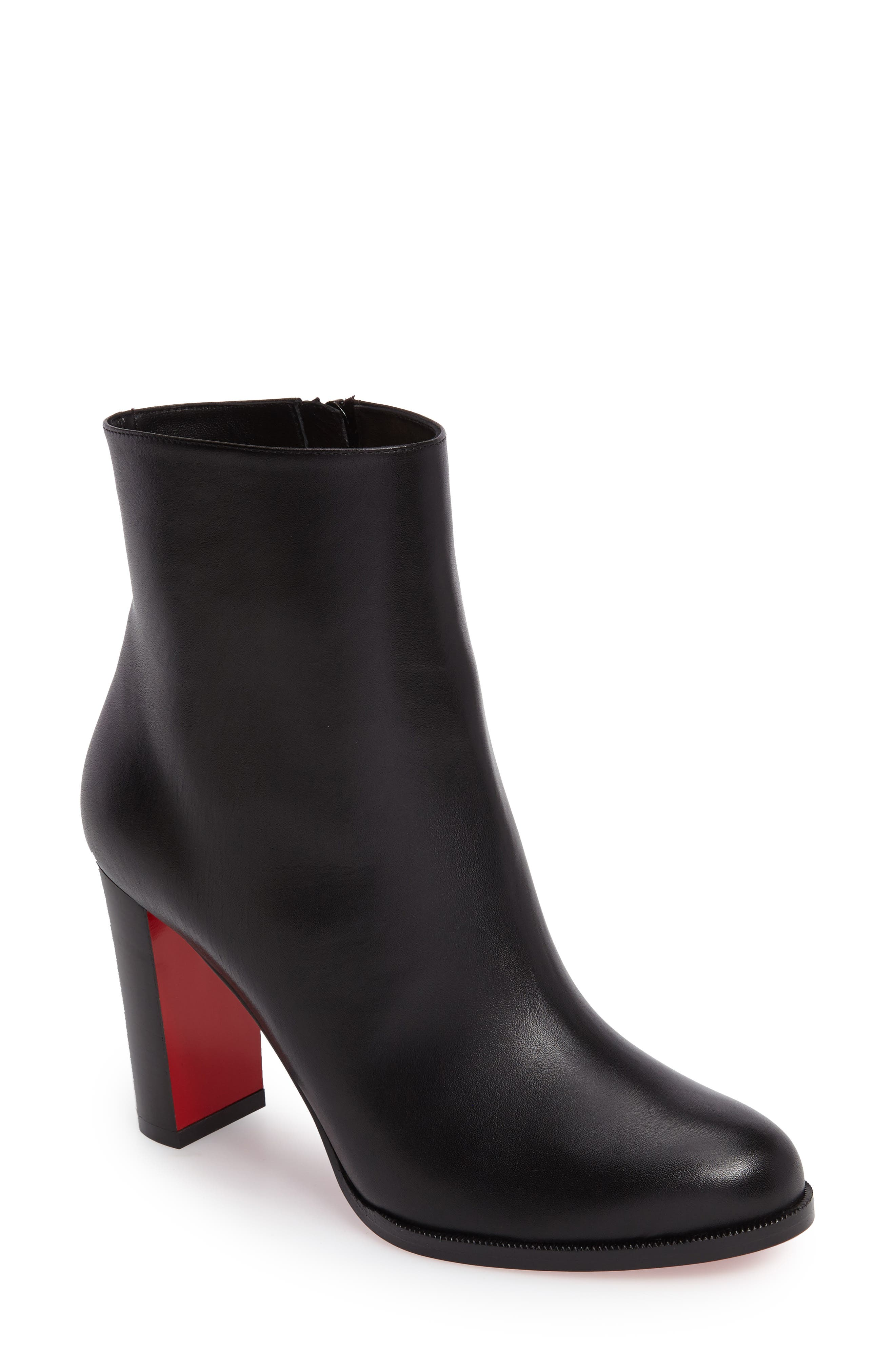 CHRISTIAN LOUBOUTIN, Adox Boot, Main thumbnail 1, color, BLACK LEATHER