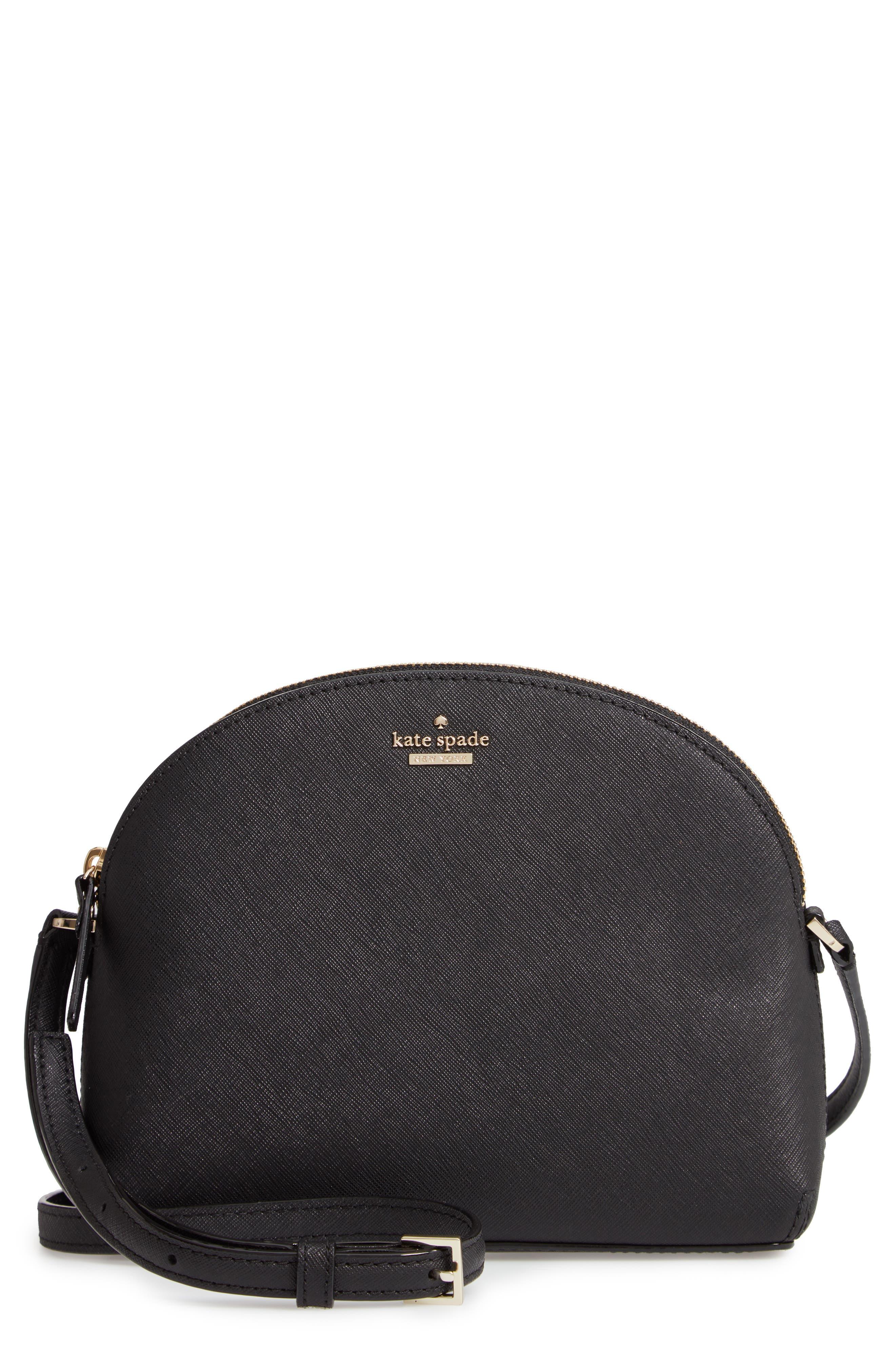 KATE SPADE NEW YORK, cameron street large hilli leather crossbody bag, Main thumbnail 1, color, 001