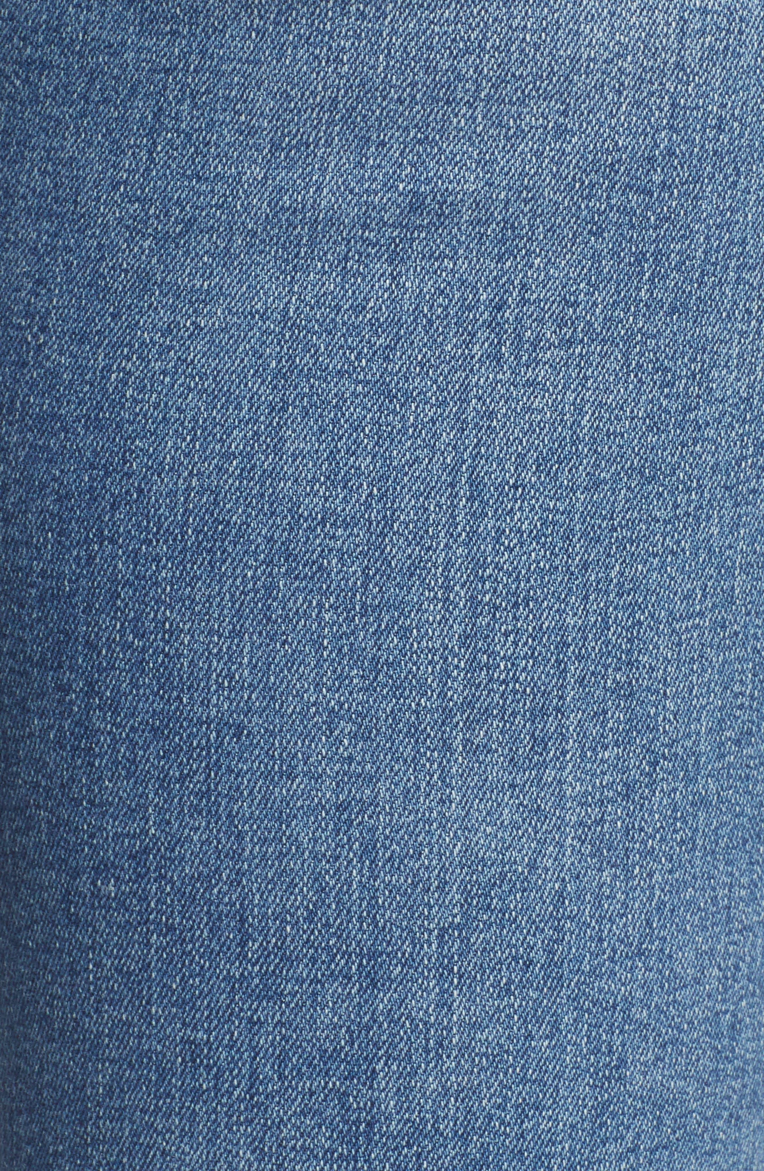AG, Mari High Waist Slim Straight Leg Jeans, Alternate thumbnail 6, color, 16 YEARS SERENITY