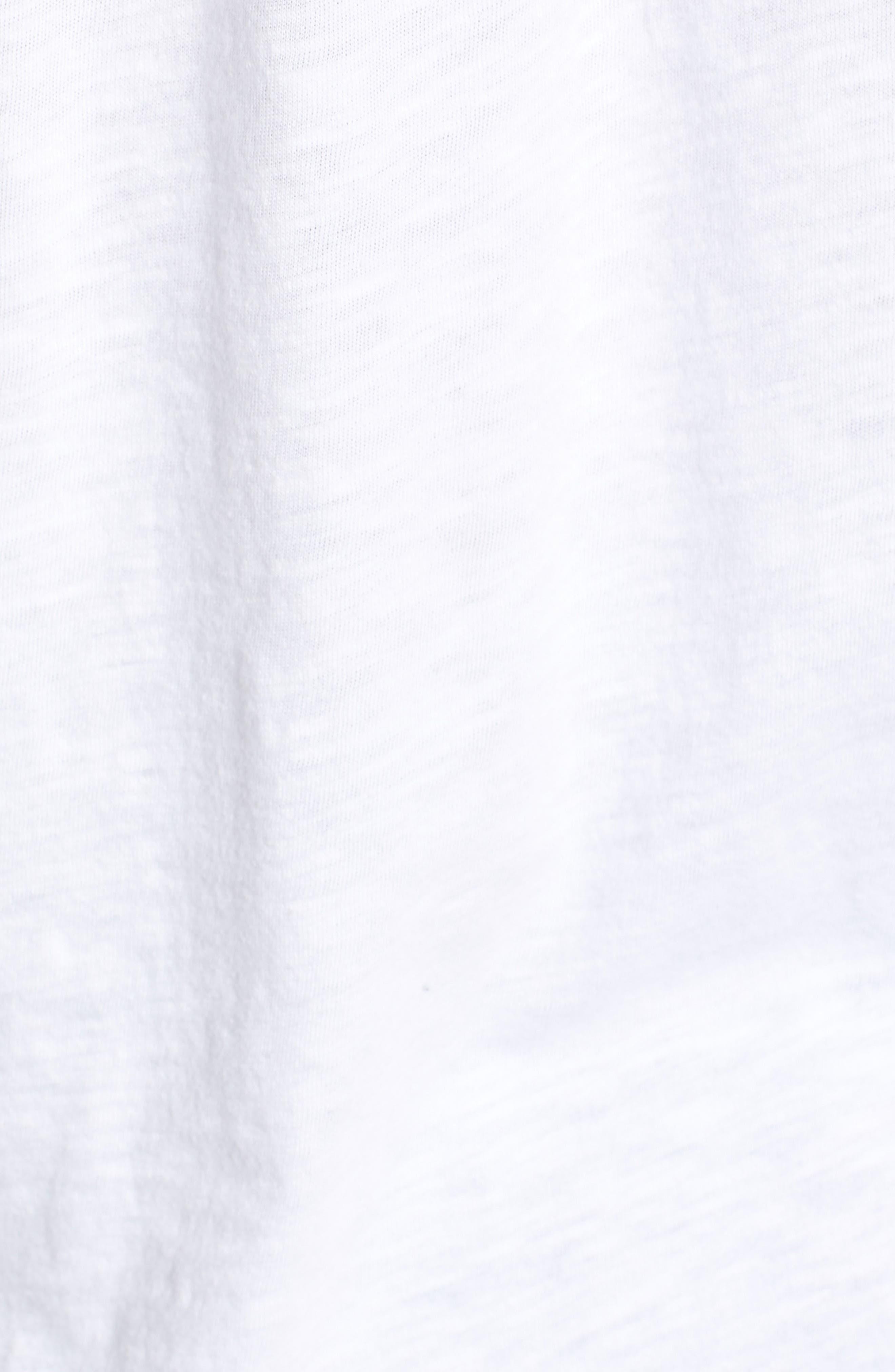 CASLON<SUP>®</SUP>, Button Down Knit Tunic, Alternate thumbnail 5, color, WHITE
