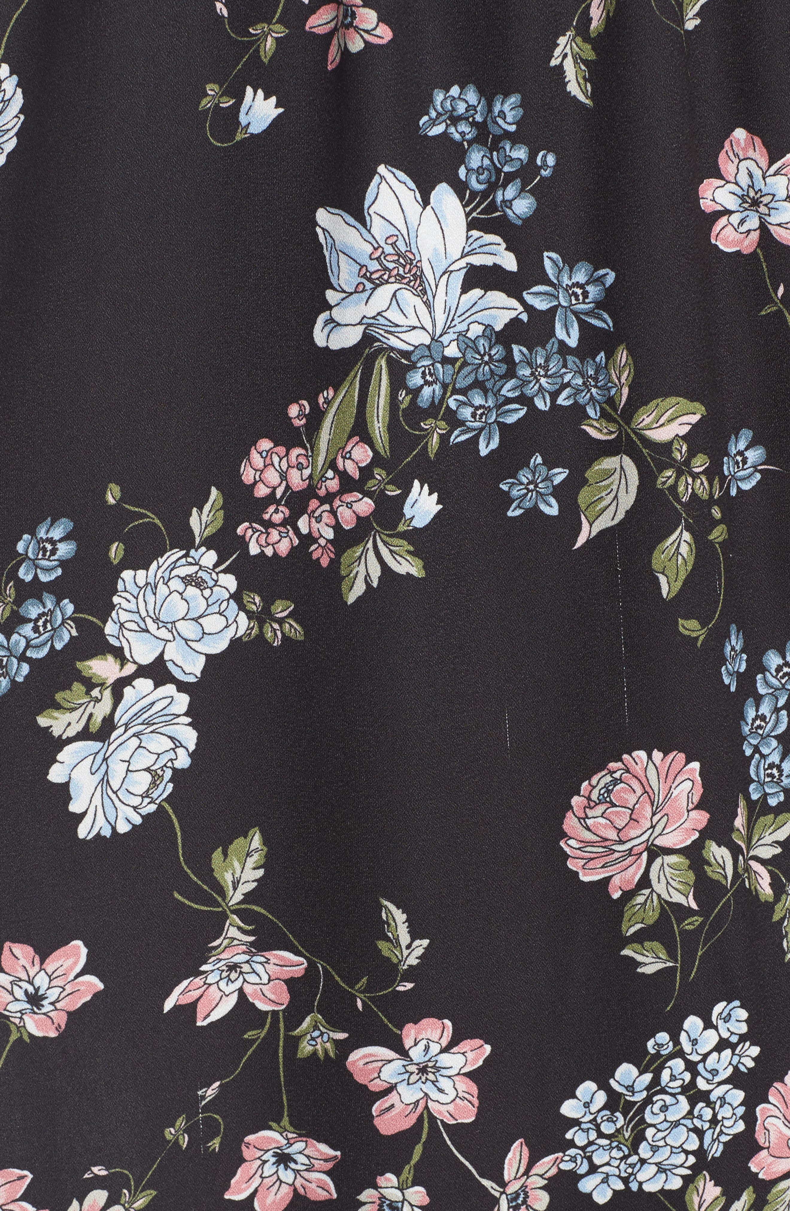 BAND OF GYPSIES, Faux Wrap Maxi Dress, Alternate thumbnail 5, color, 004