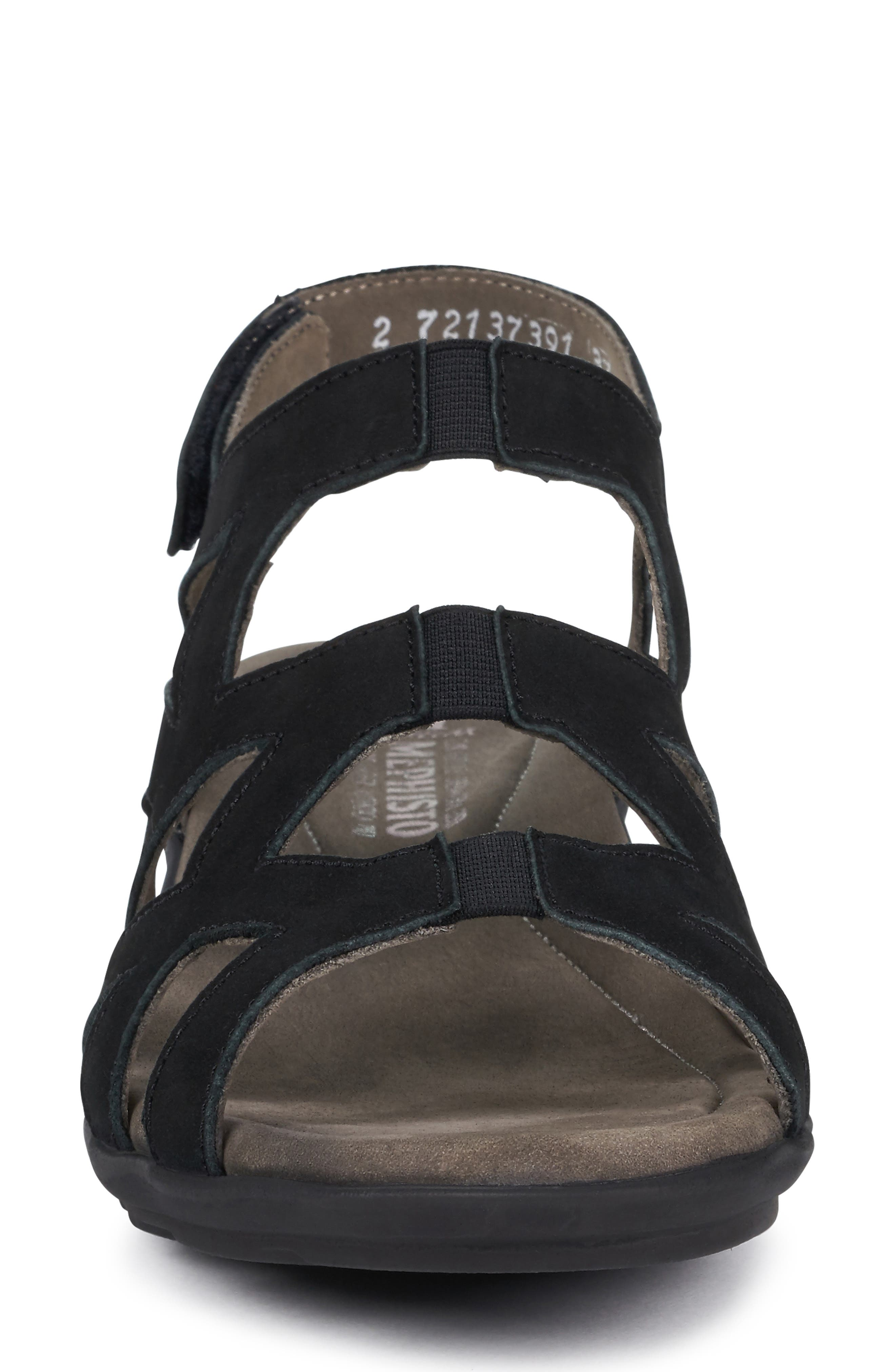 MEPHISTO, Pamela Sandal, Alternate thumbnail 4, color, BLACK NUBUCK