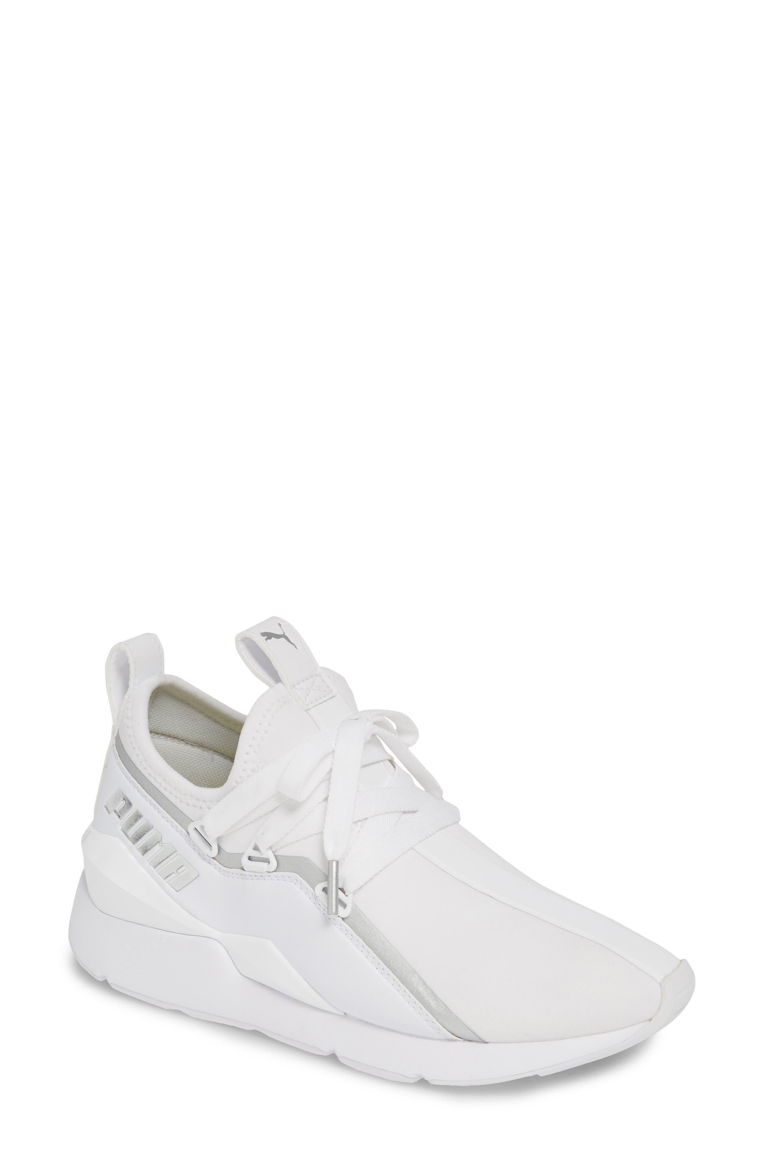 PUMA, Muse 2 Trailblazer Sneaker, Main thumbnail 1, color, WHITE/ SILVER