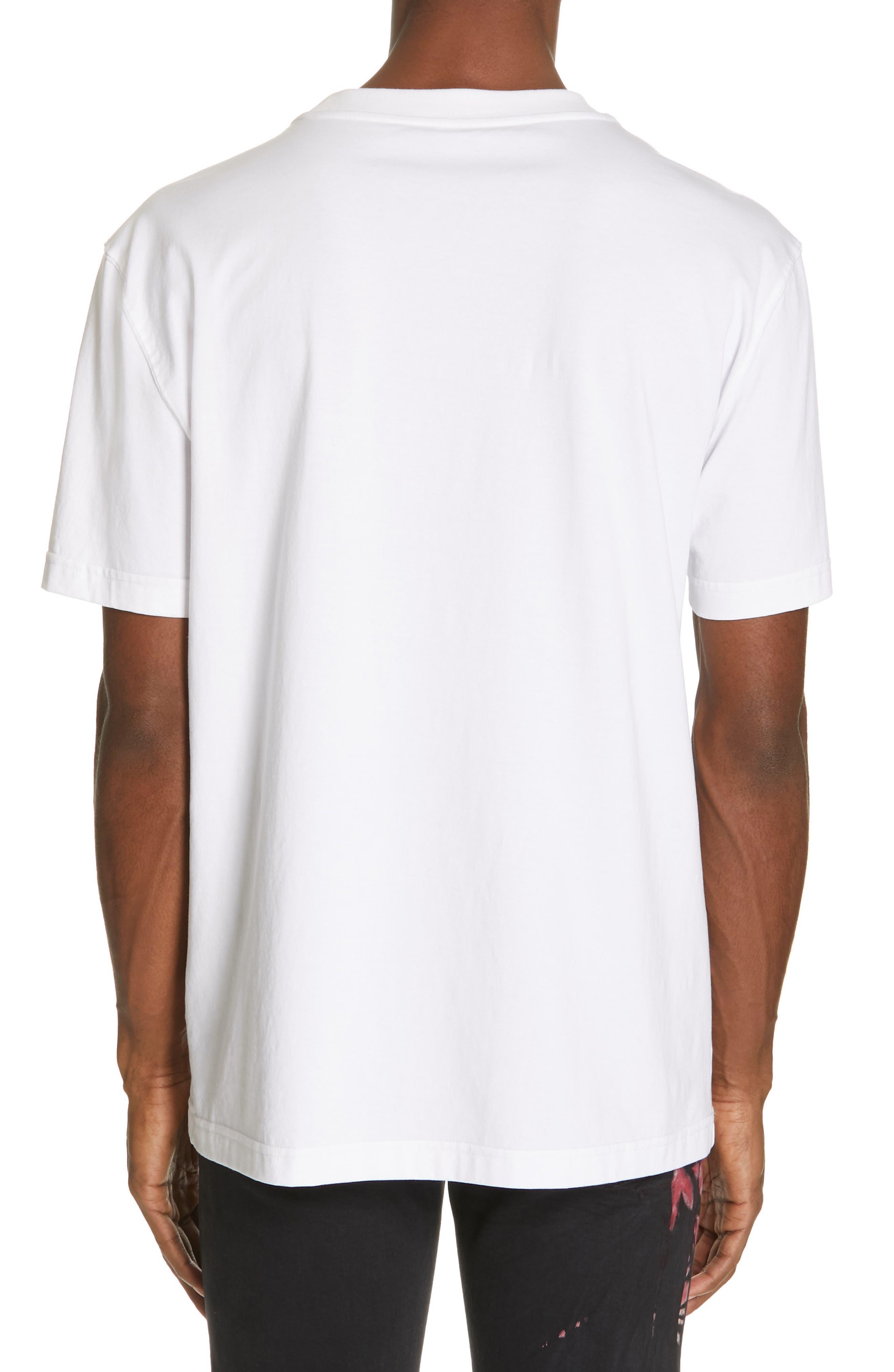 CALVIN KLEIN 205W39NYC, Logo T-Shirt, Alternate thumbnail 2, color, OPTIC WHITE