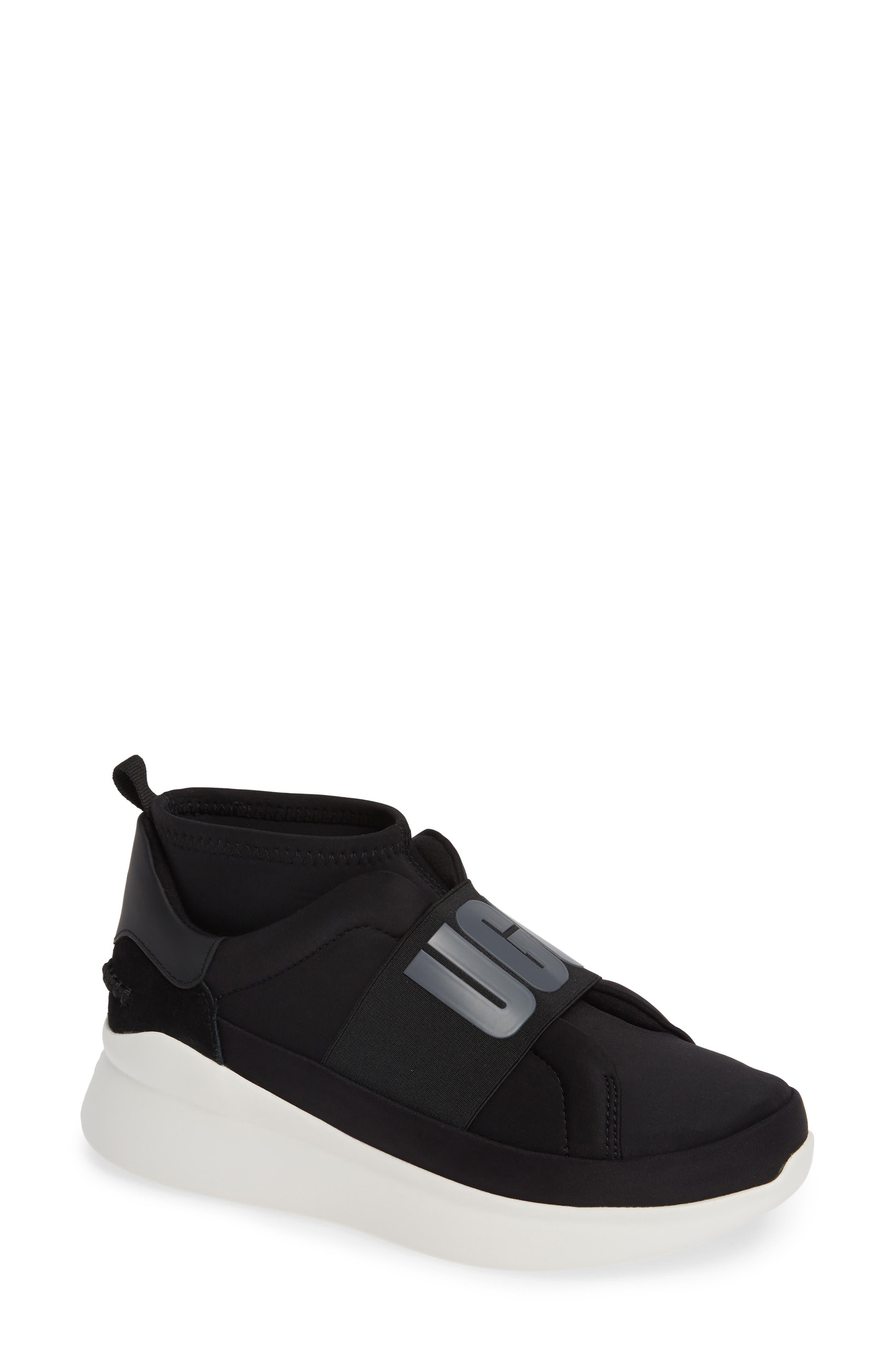 UGG<SUP>®</SUP>, Neutra Sock Sneaker, Main thumbnail 1, color, BLACK