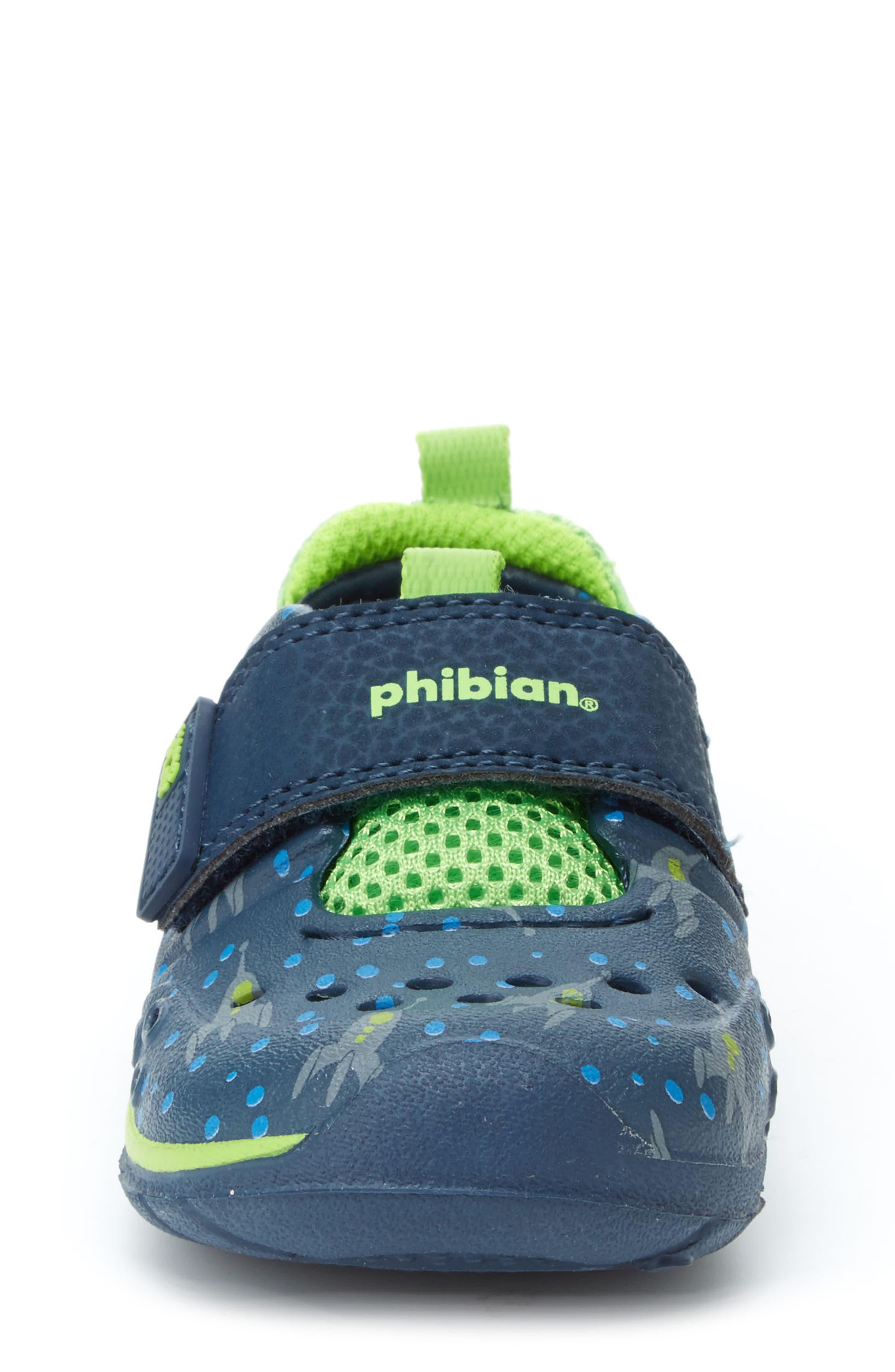 STRIDE RITE, Made2Play<sup>®</sup> Phibian Sneaker, Alternate thumbnail 4, color, NAVY ROCKET SHIP