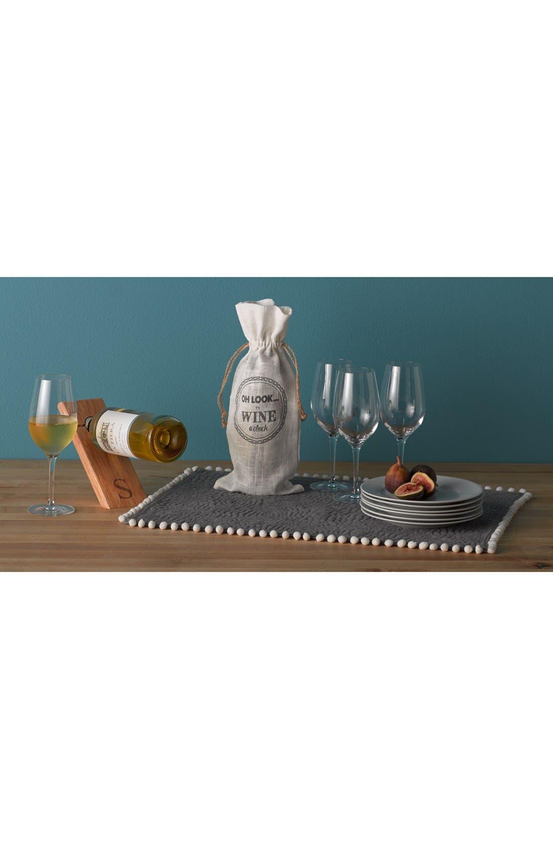 CATHY'S CONCEPTS, Monogram Counter Balance Wine Bottle Holder, Alternate thumbnail 4, color, 013