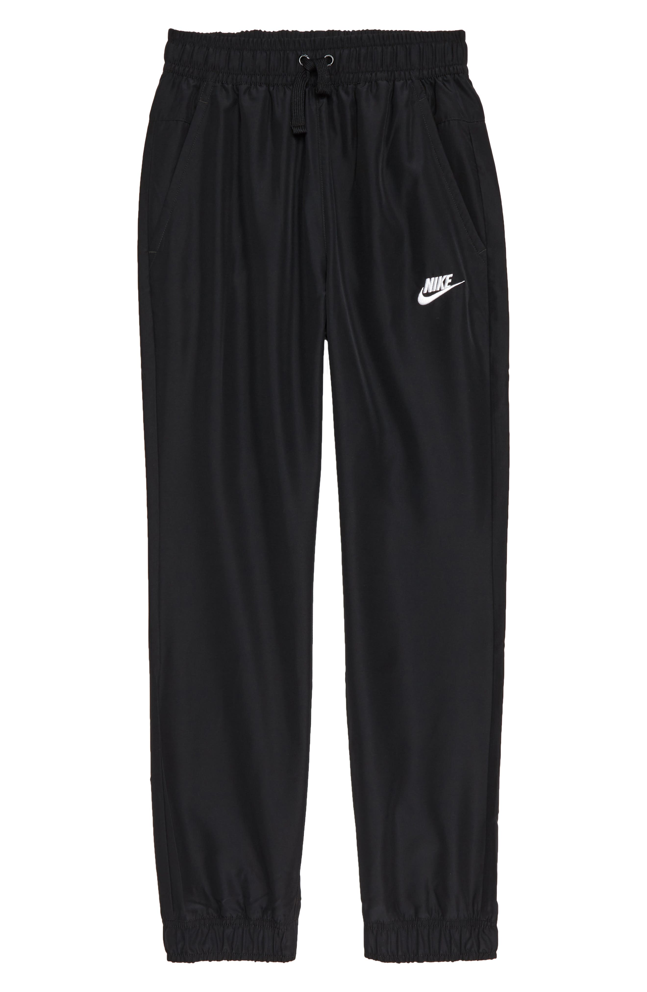 NIKE, Sportswear Woven Jogger Pants, Main thumbnail 1, color, 010